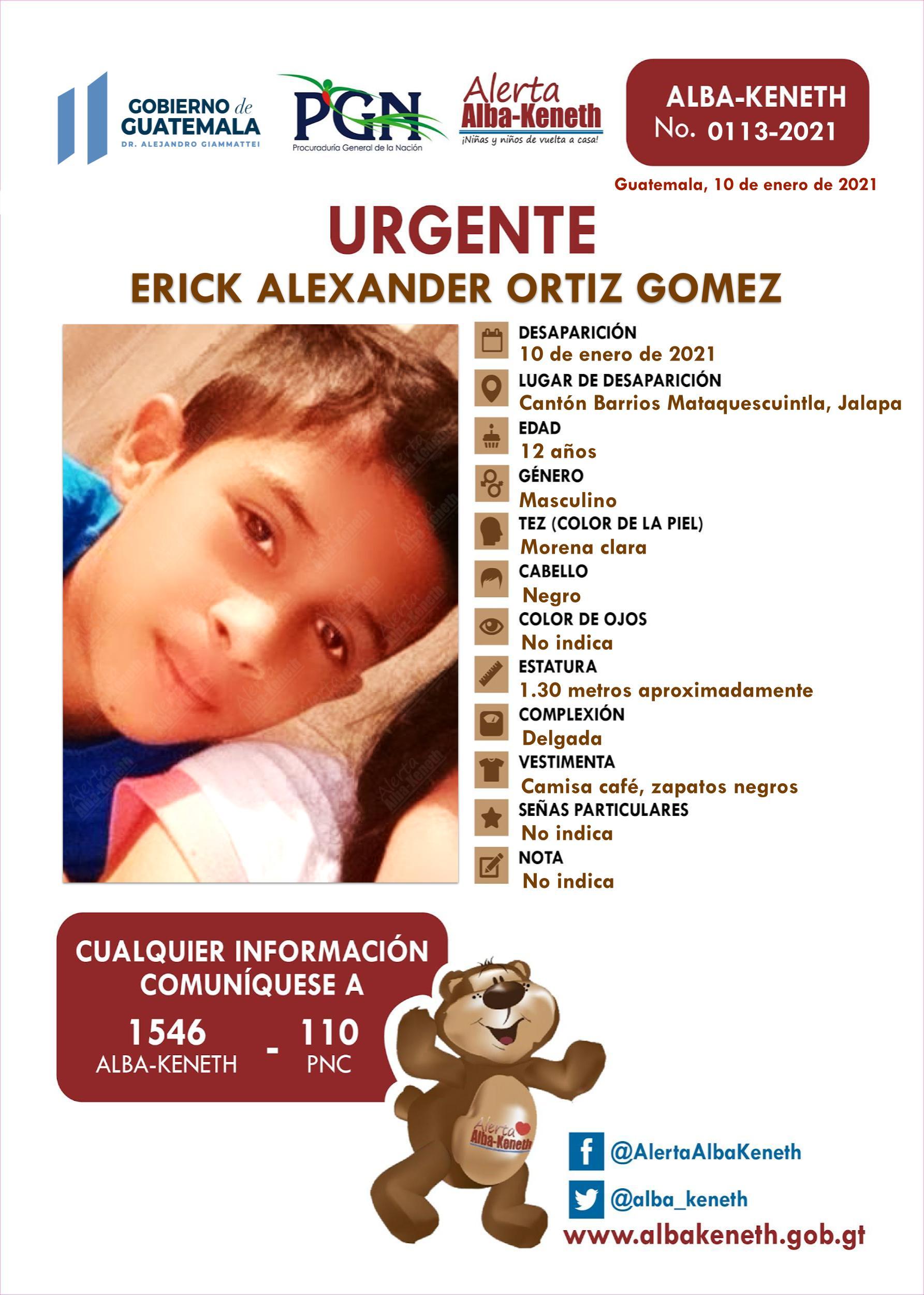 Erick Alexander Ortiz Gomez