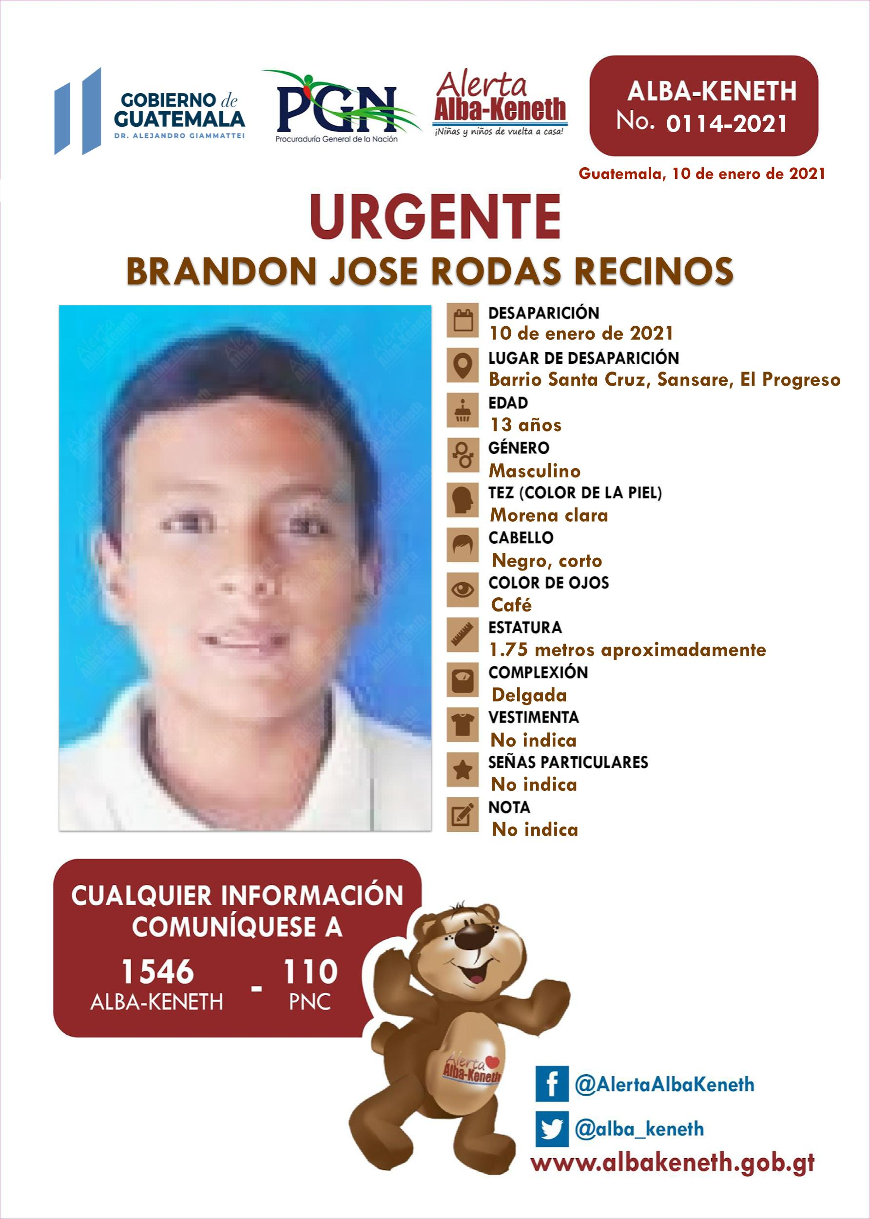 Brandon Jose Rodas Recinos