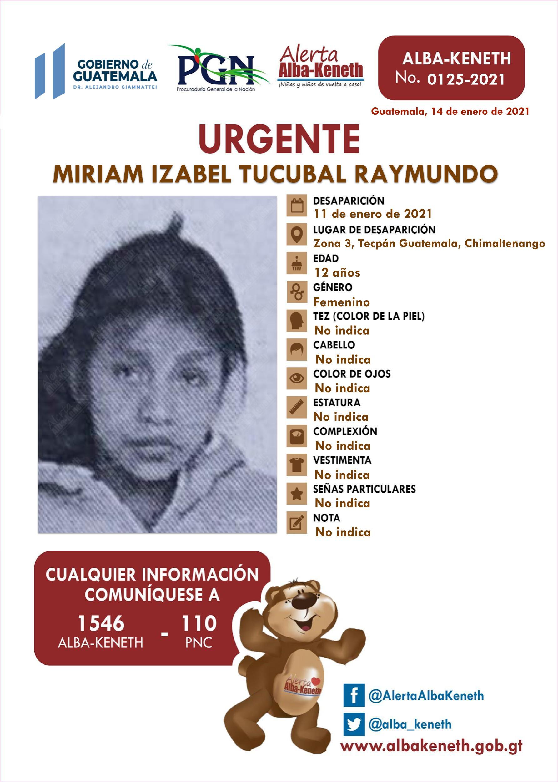 Miriam Izabel Tucubal Raymundo