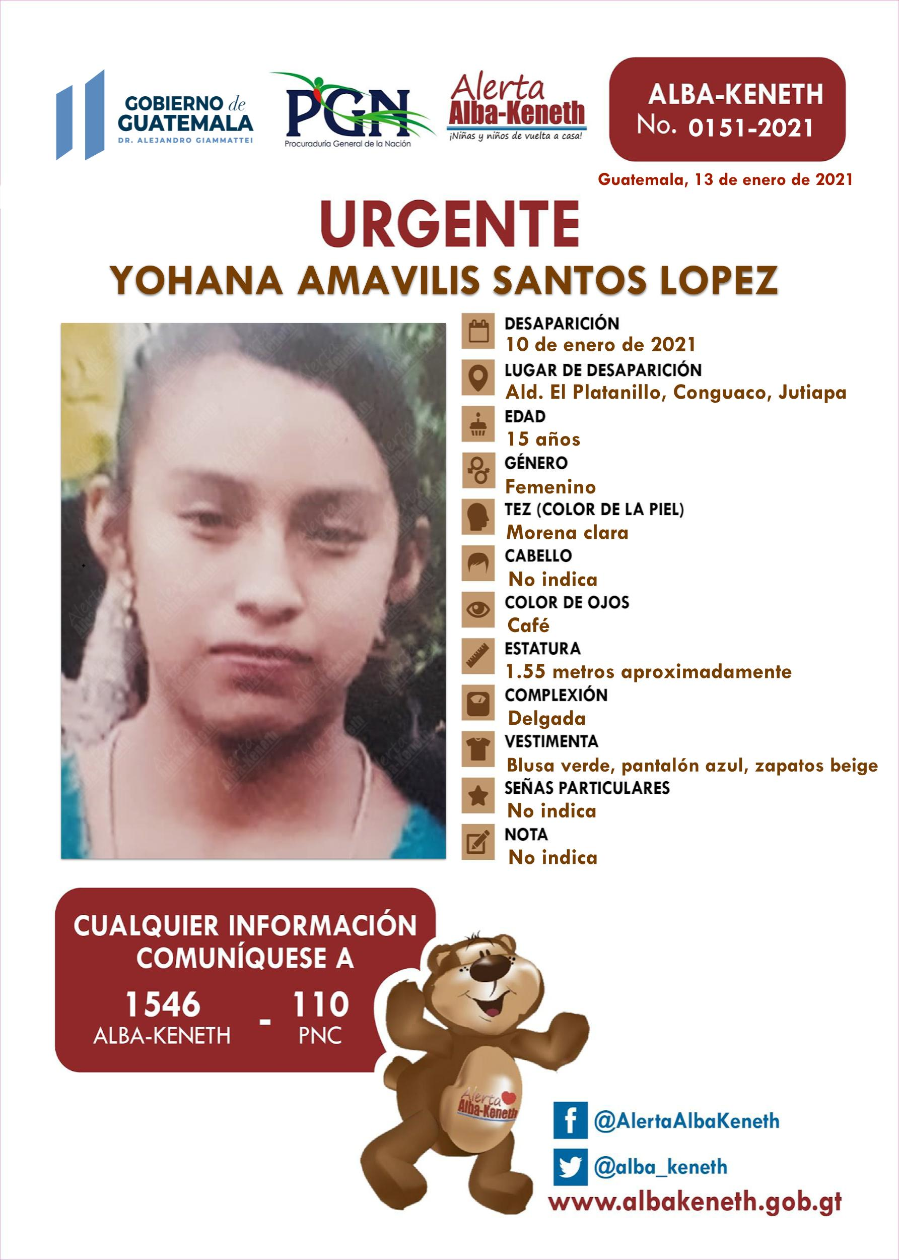 Yohana Amavilis Santos Lopez
