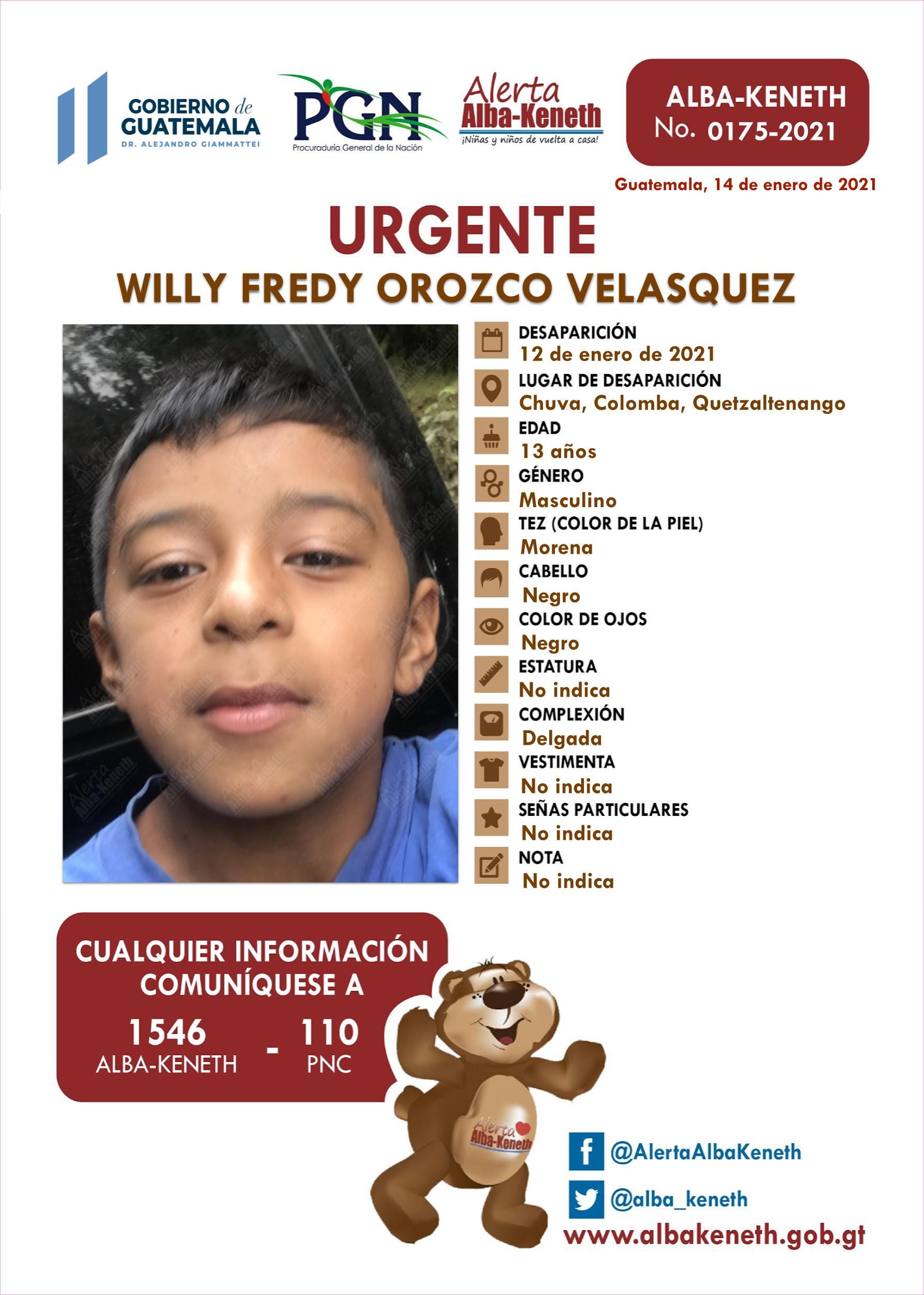 Willy Fredy Orozco Velasquez