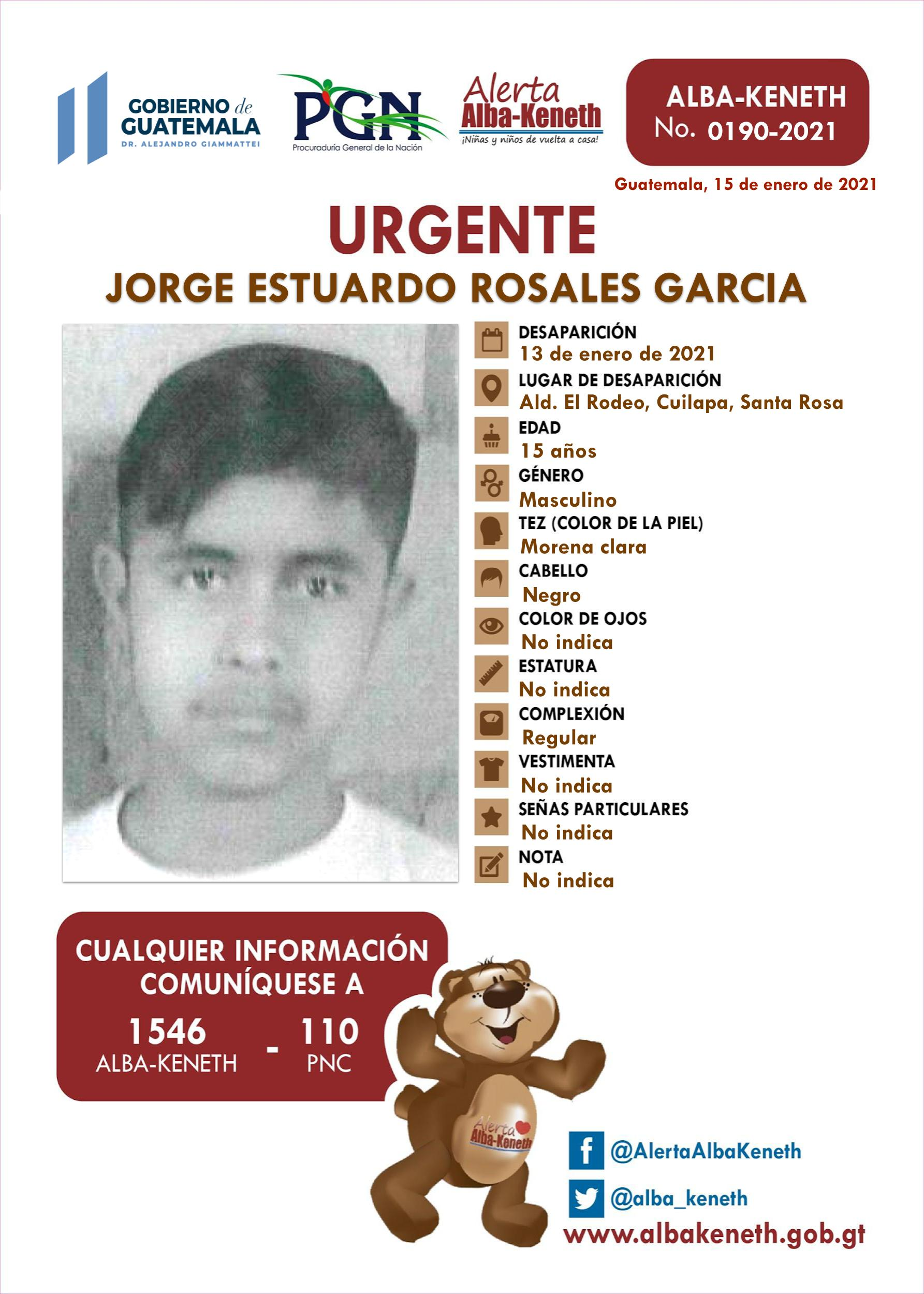 Jorge Estuardo Rosales Garcia