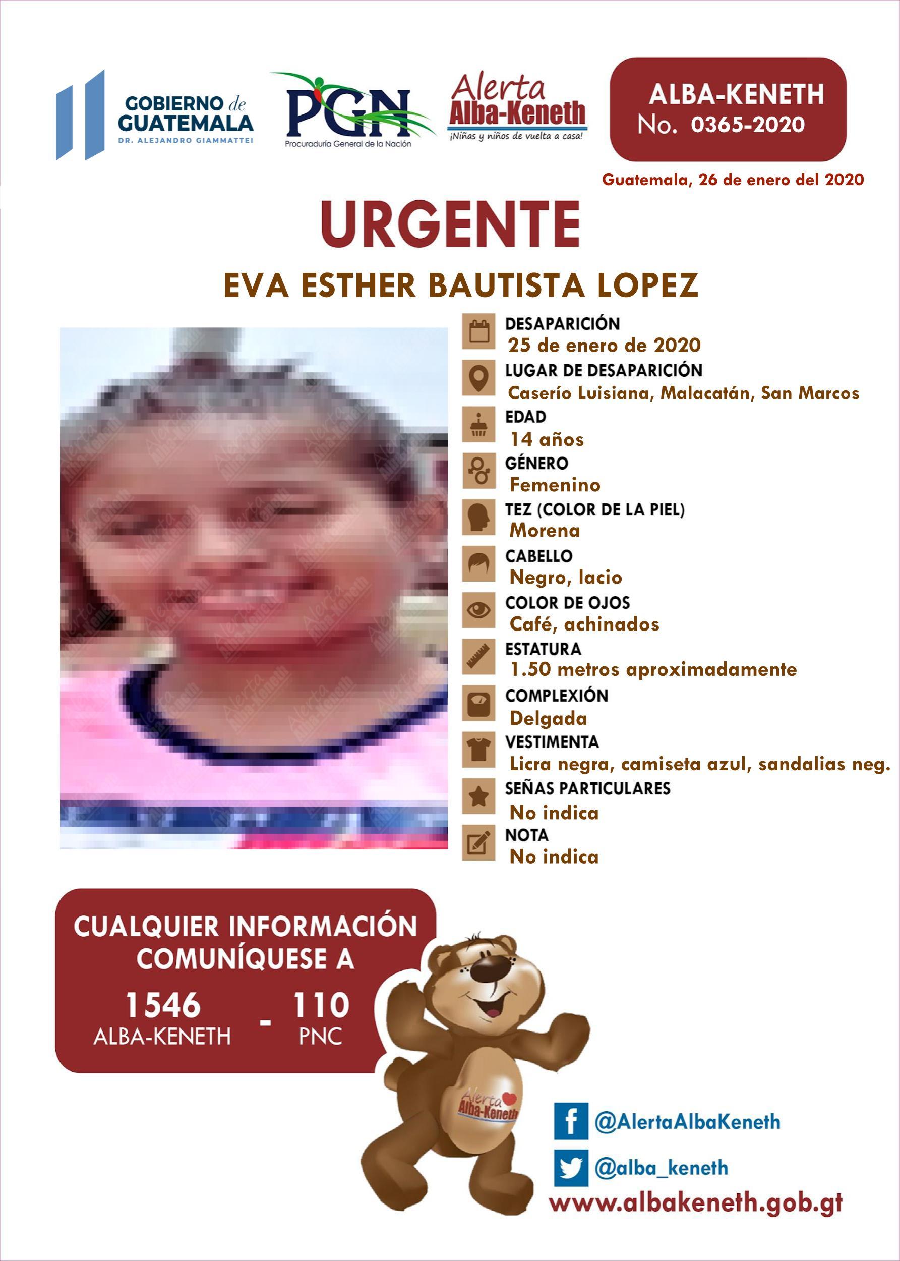 Eva Esther Bautista Lopez