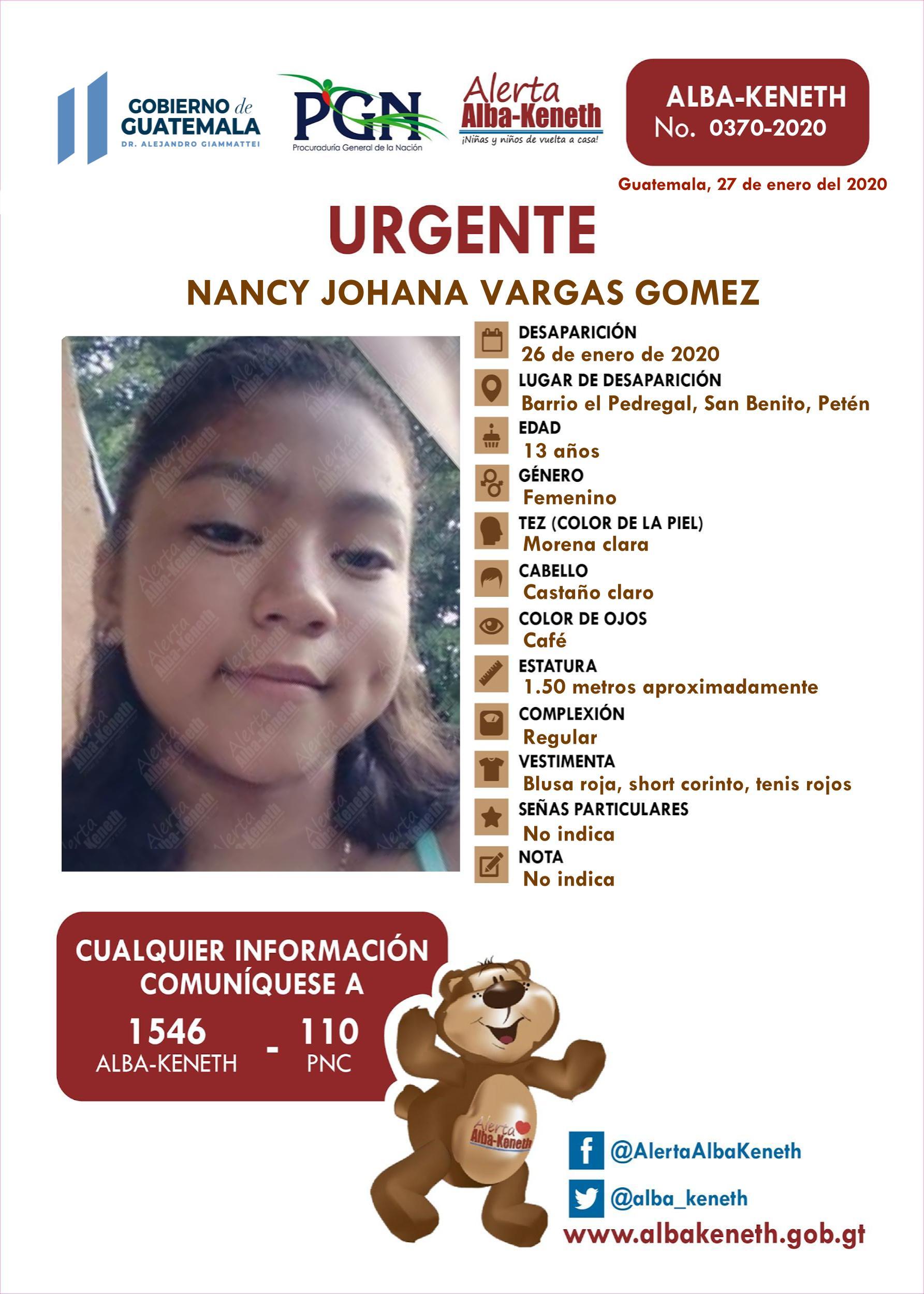 Nancy Johana Vargas Gomez