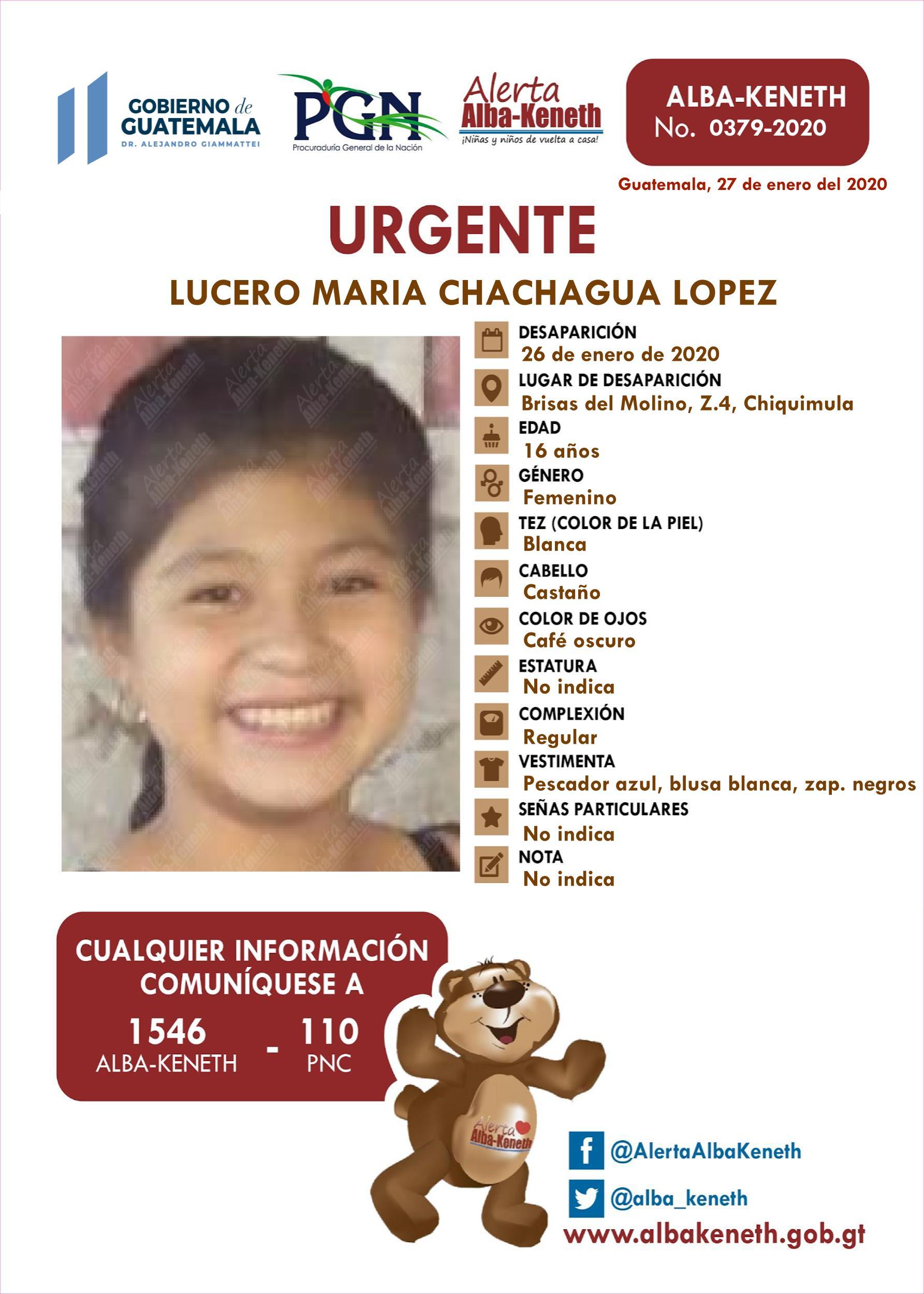 Lucero Maria Chachagua Lopez