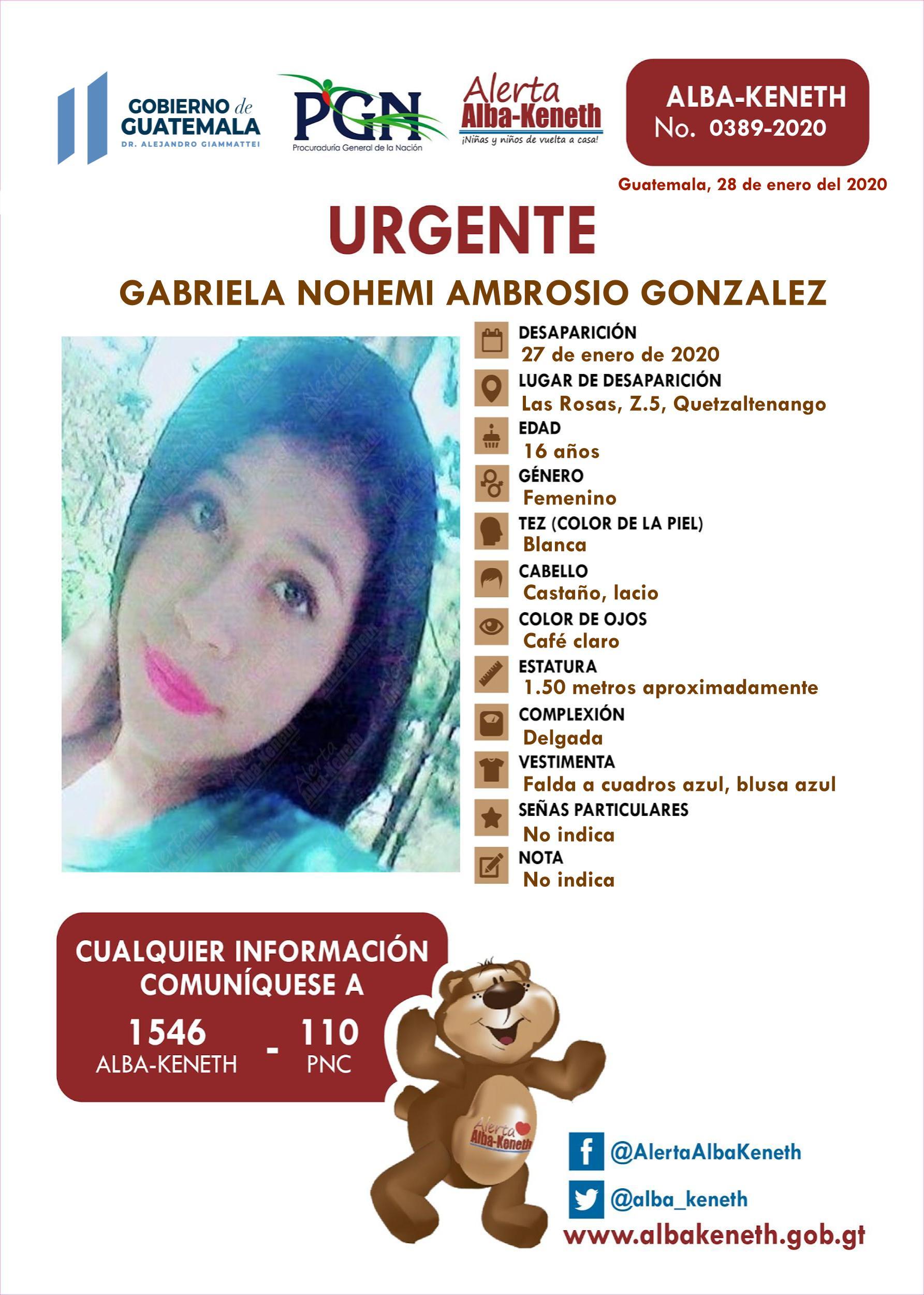 Gabriela Nohemi Ambrosio Gonzalez