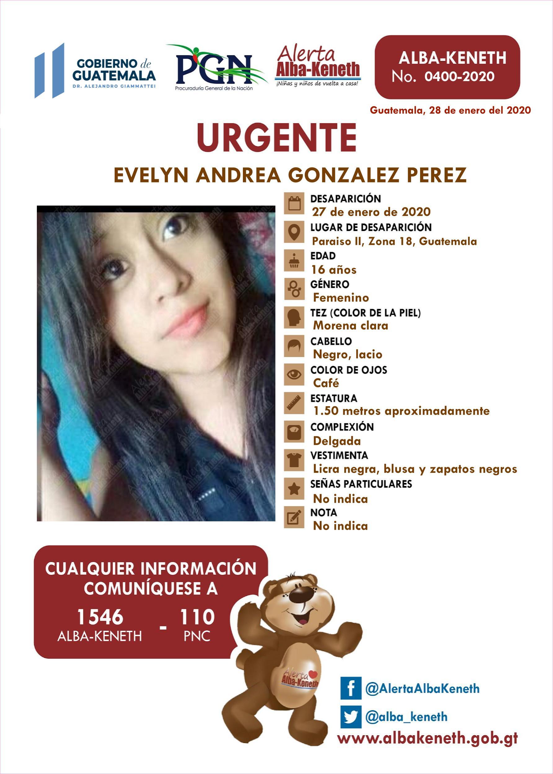Evelyn Andrea Gonzalez Perez
