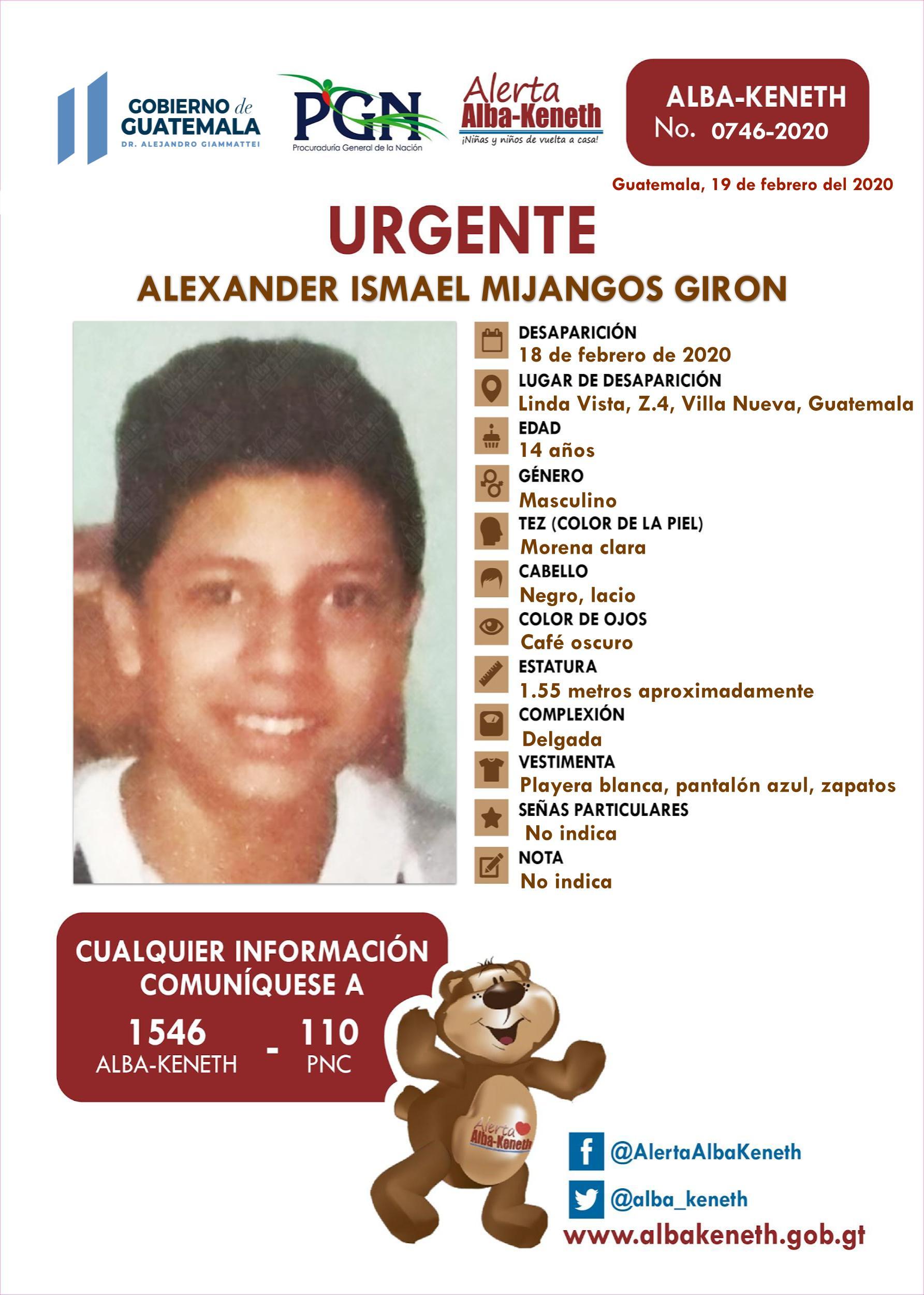 Alexander Ismael Mijangos Giron
