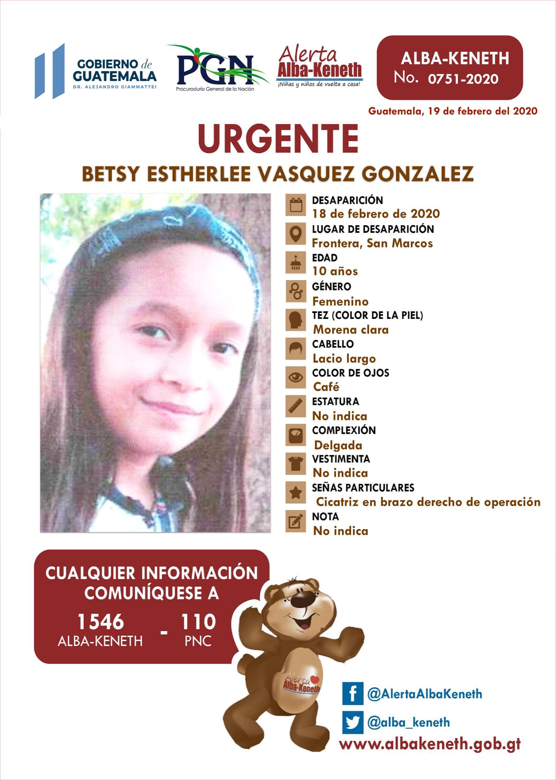 Betsy Estherlee Vasquez Gonzalez