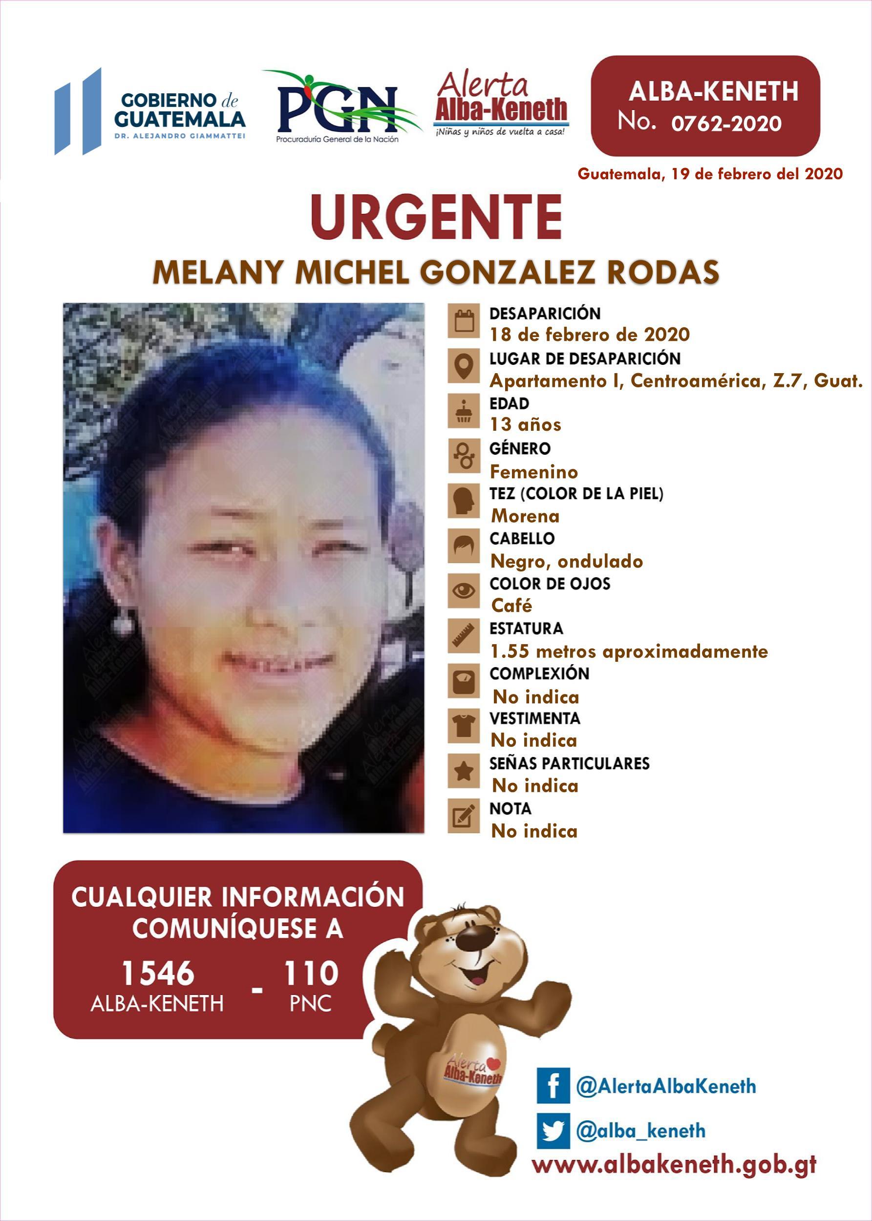 Melany Michel Gonzalez Rodas