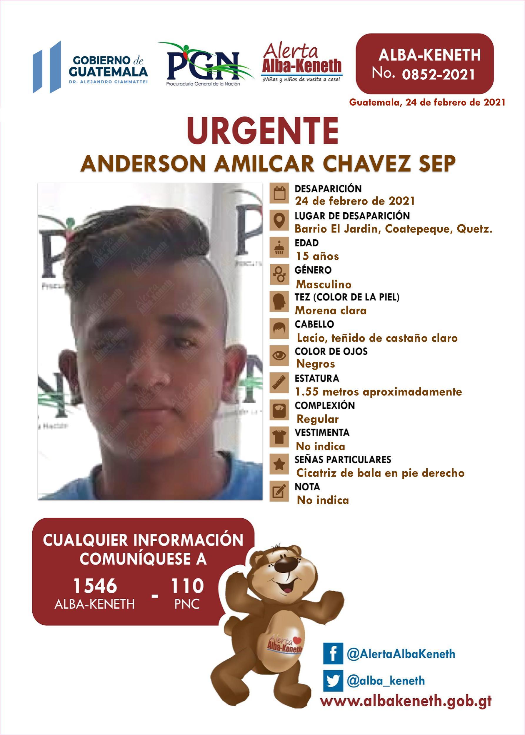 Anderson Amilcar Chavez Sep