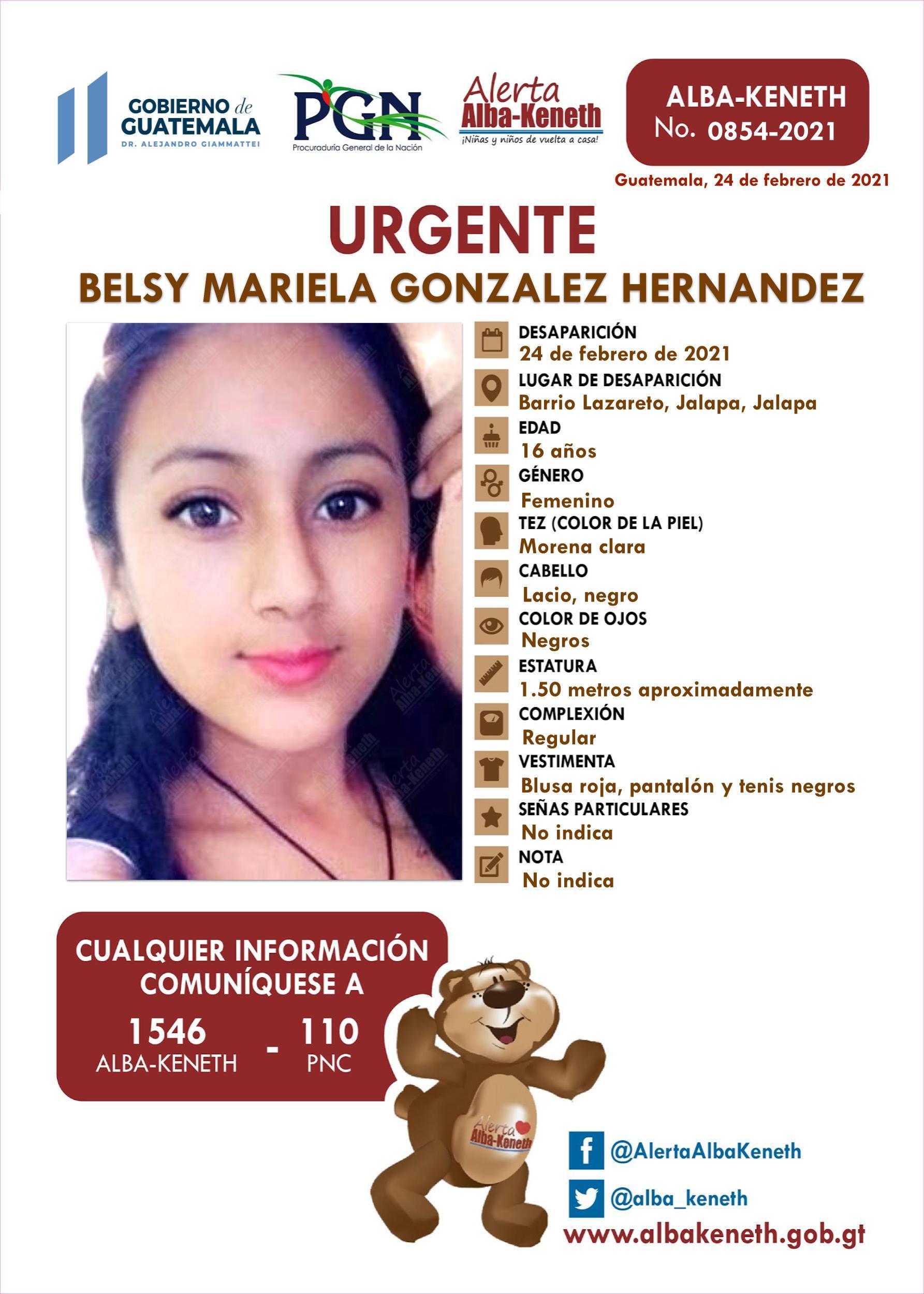 Belsy Mariela Gonzalez Hernandez