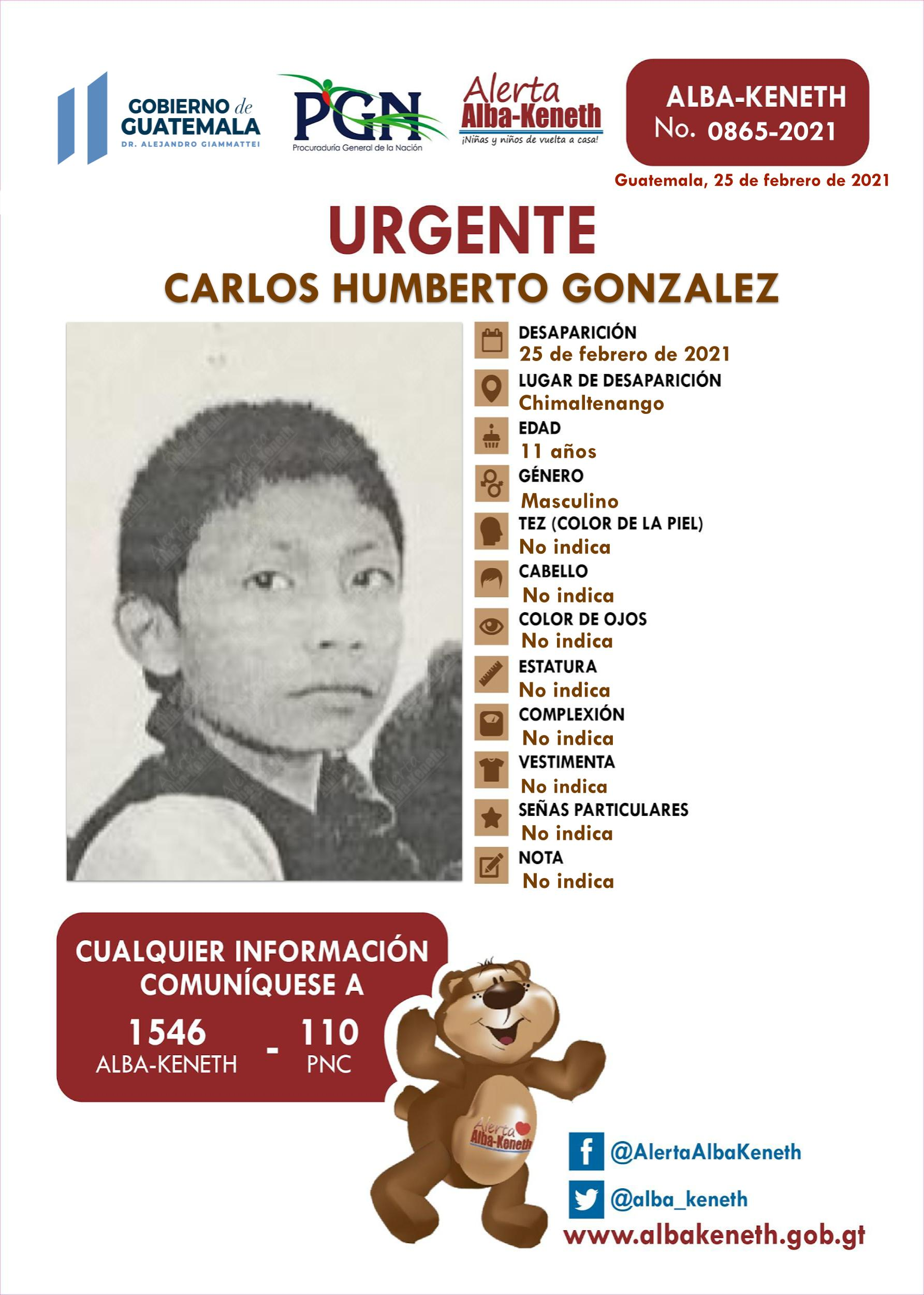 Carlos Humberto Gonzalez