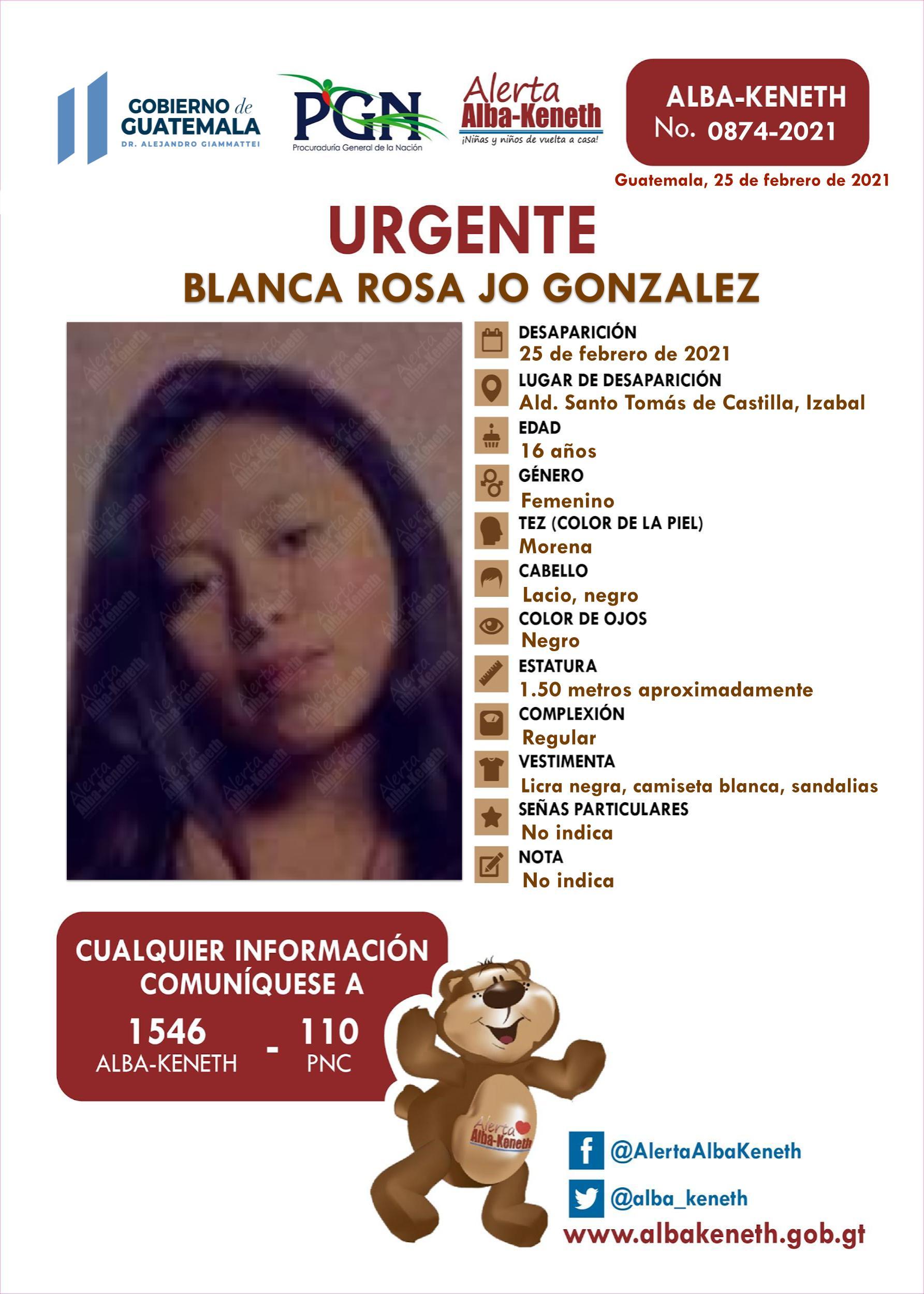 Blanca Rosa Jo Gonzalez