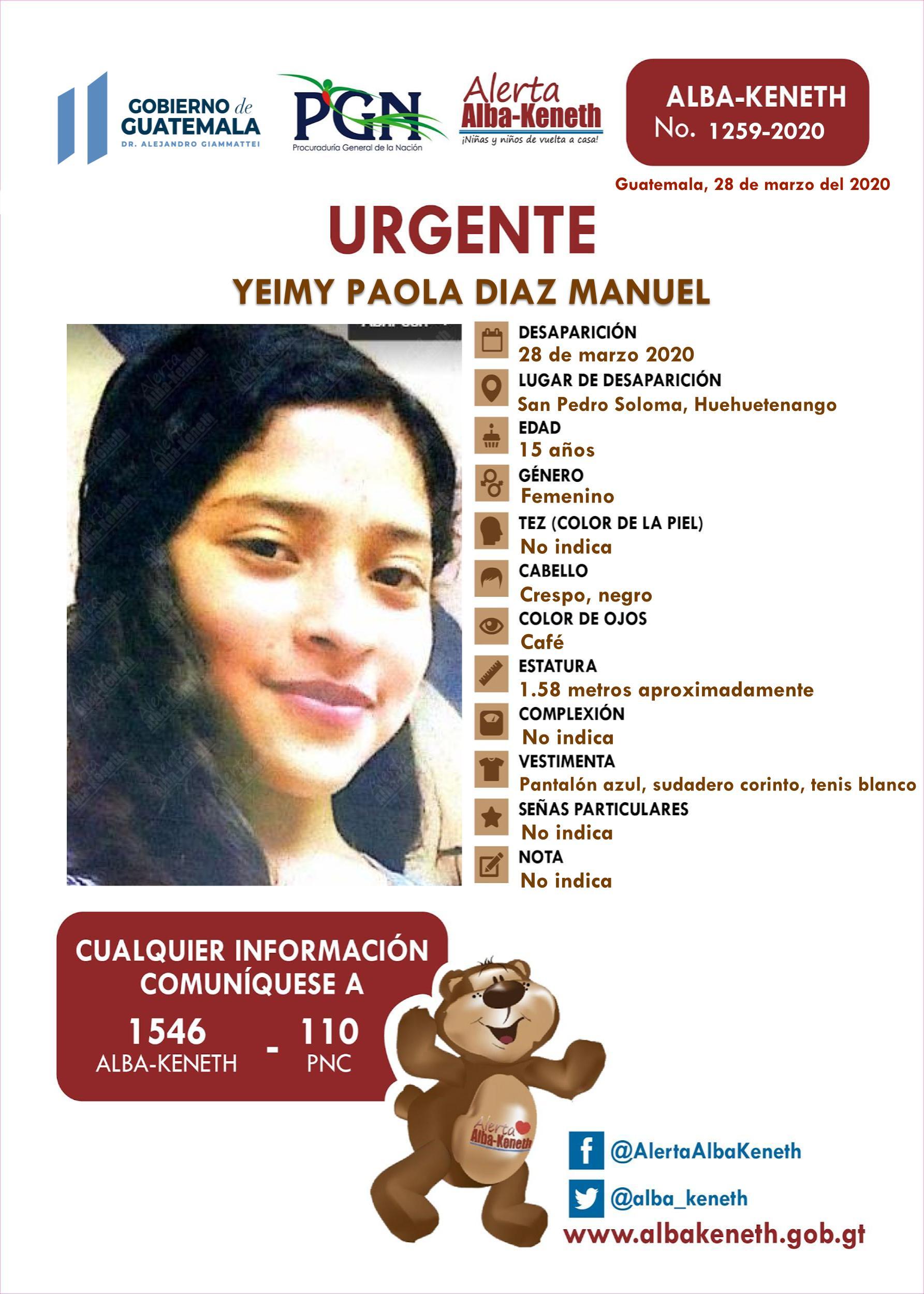 Yeimy Paola Diaz Manuel