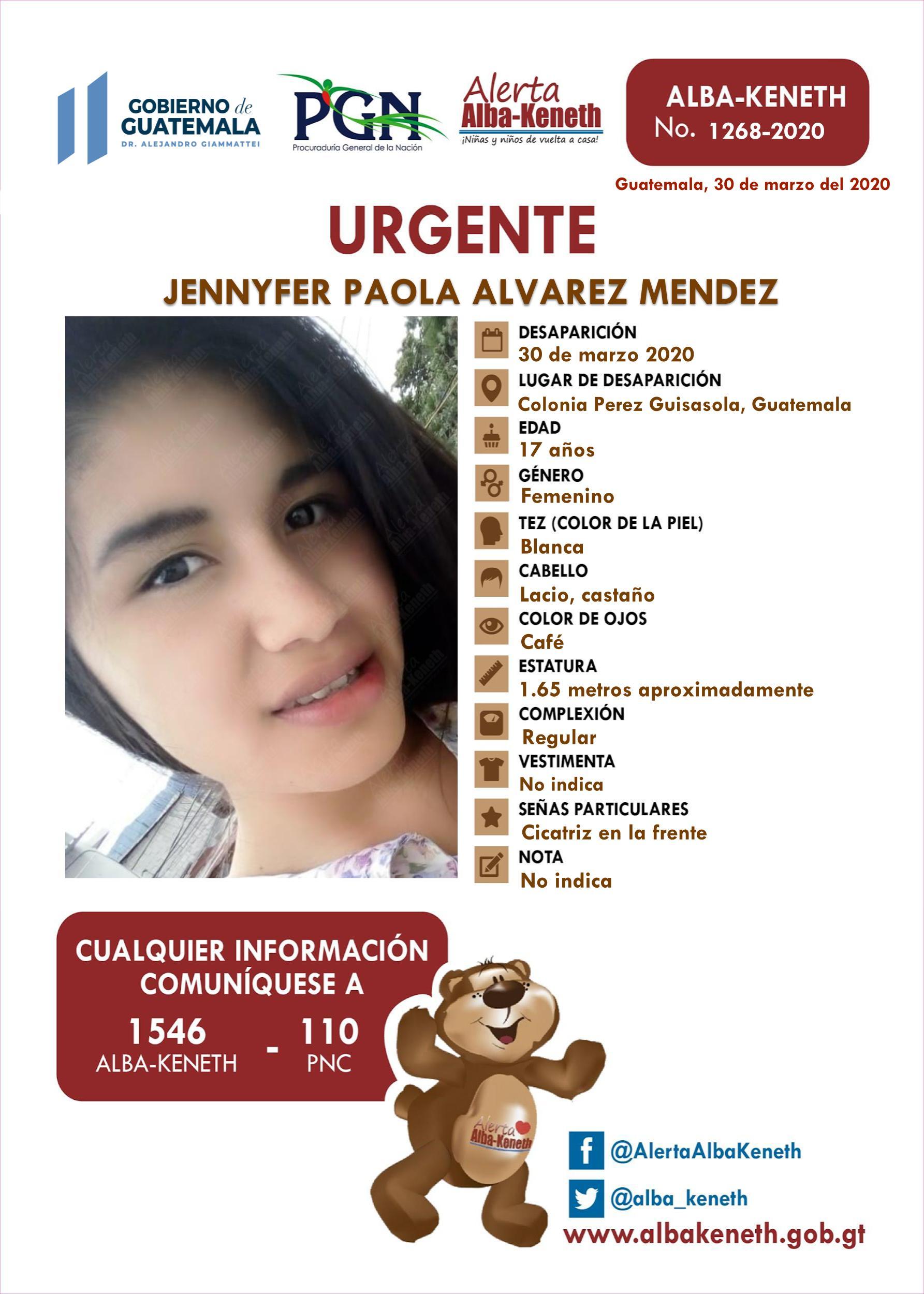 Jennyfer Paola Alvarez Mendez