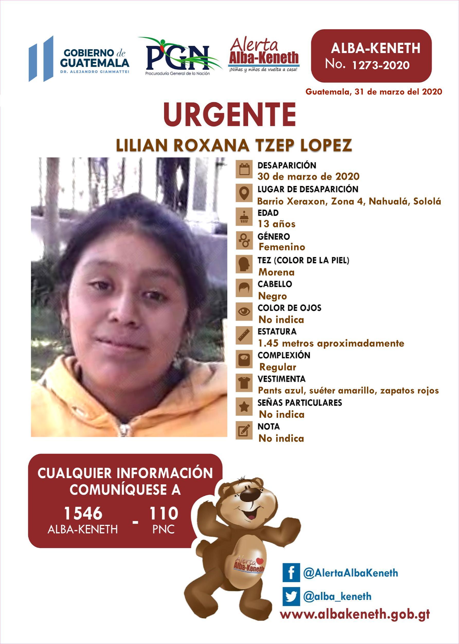 Lilian Roxana Tzep Lopez