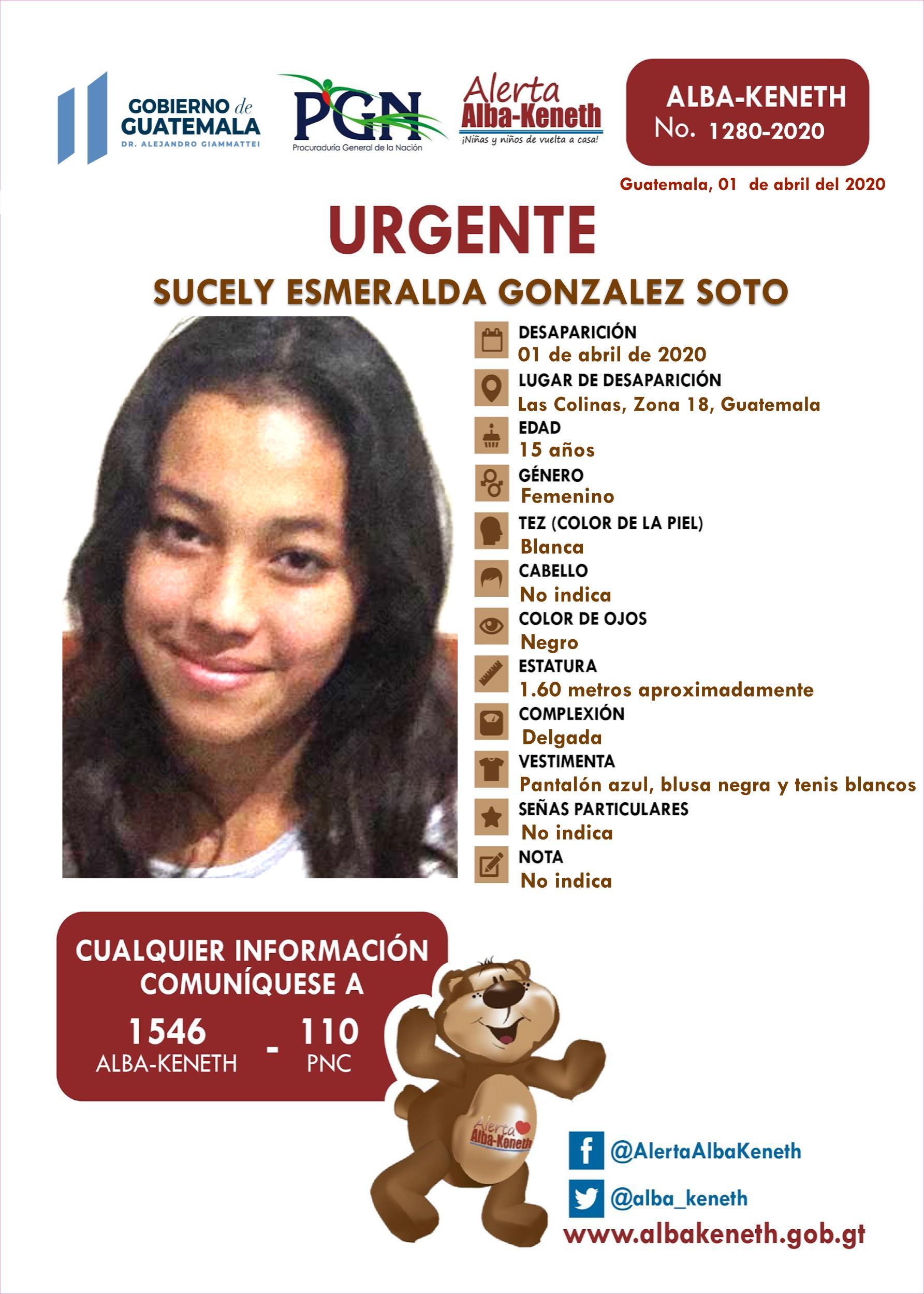 Sucely Esmeralda Gonzalez Soto