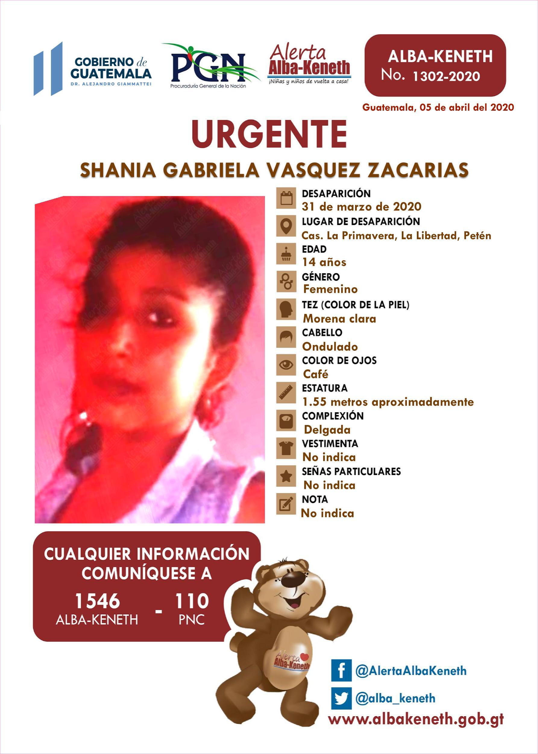 Shania Gabriela Vasquez Zacaria