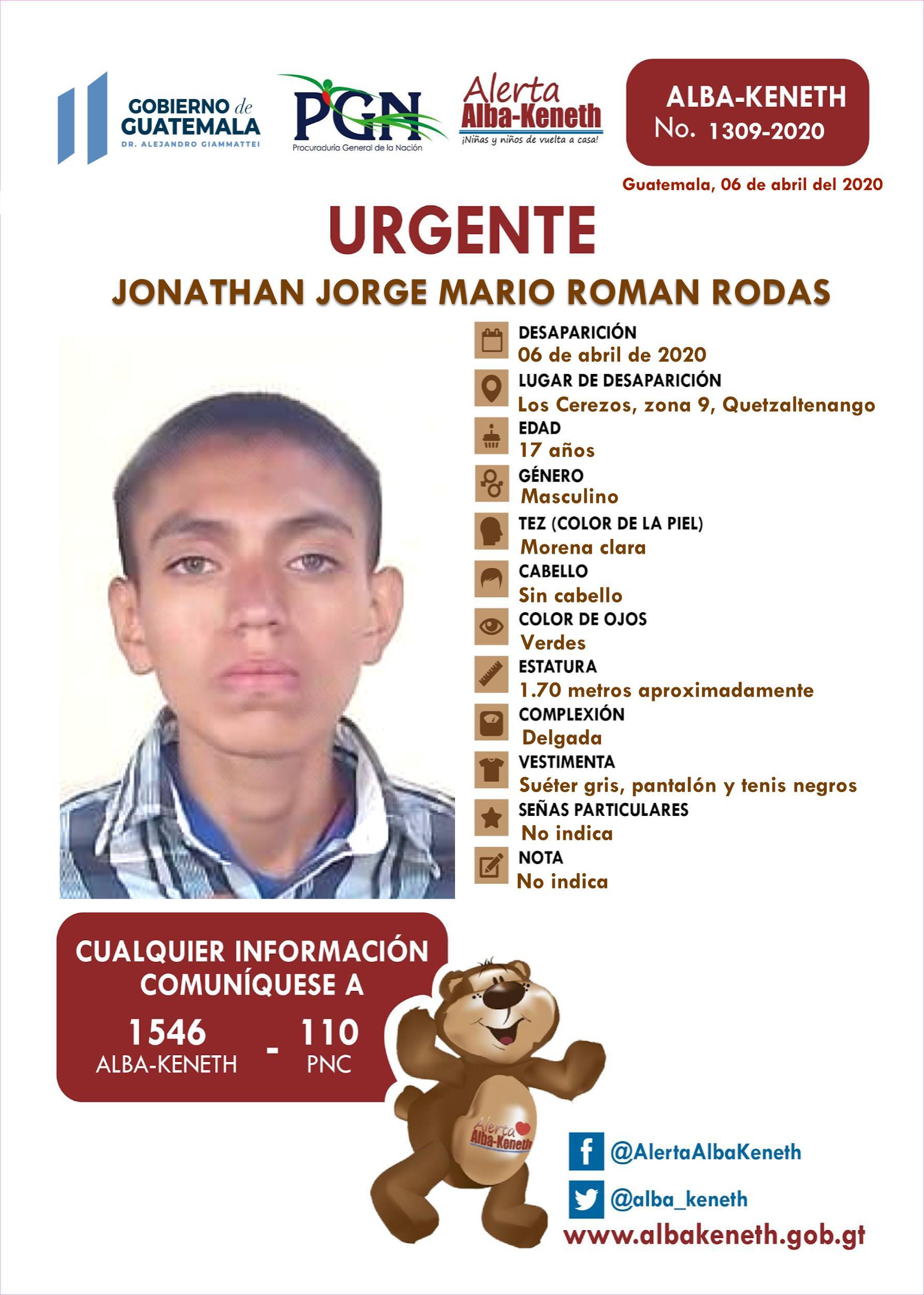 Jonathan Jorge Mario Romas Rodas