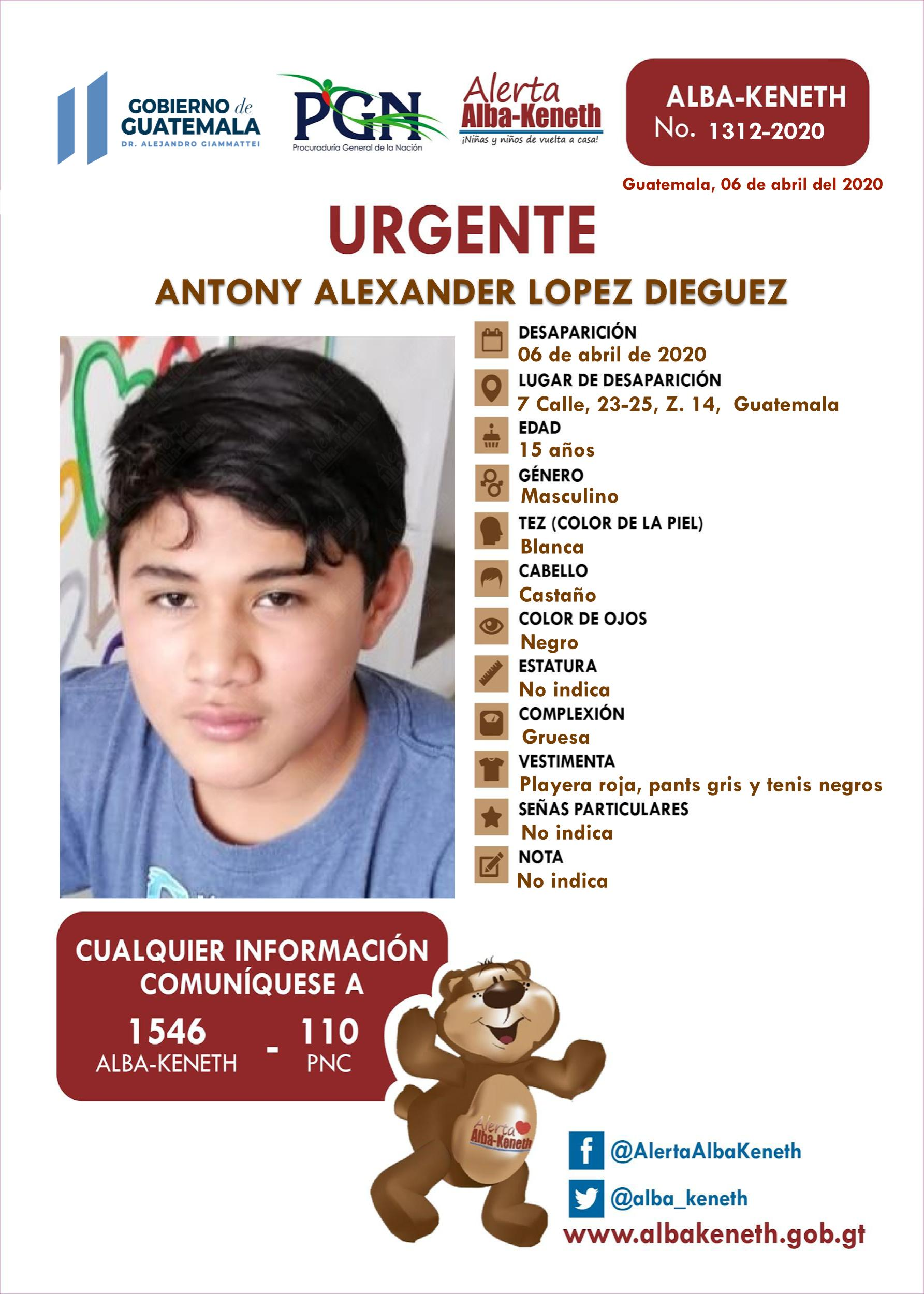 Antony Alexander Lopez Dieguez