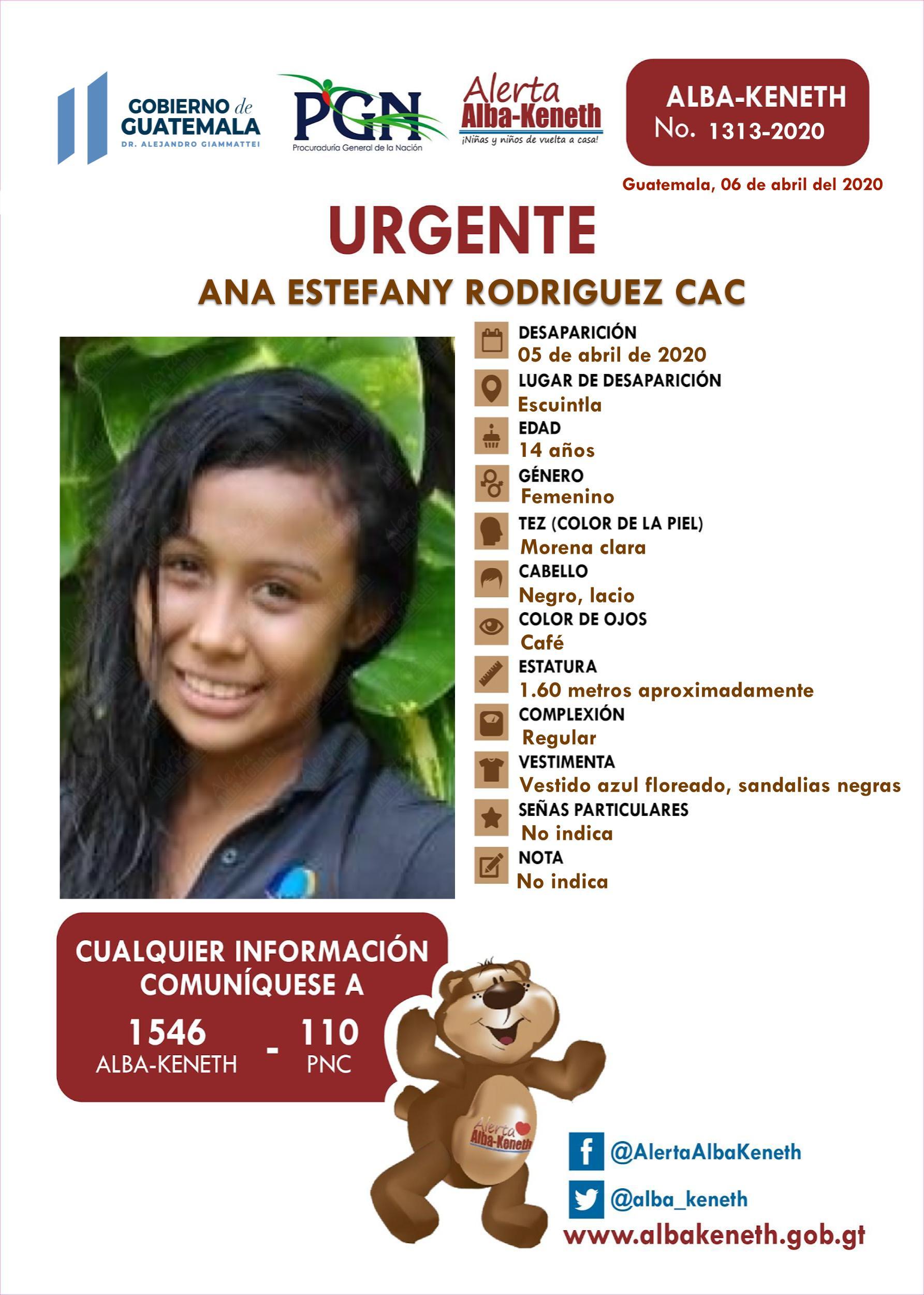 Ana Estefany Rodriguez Cac