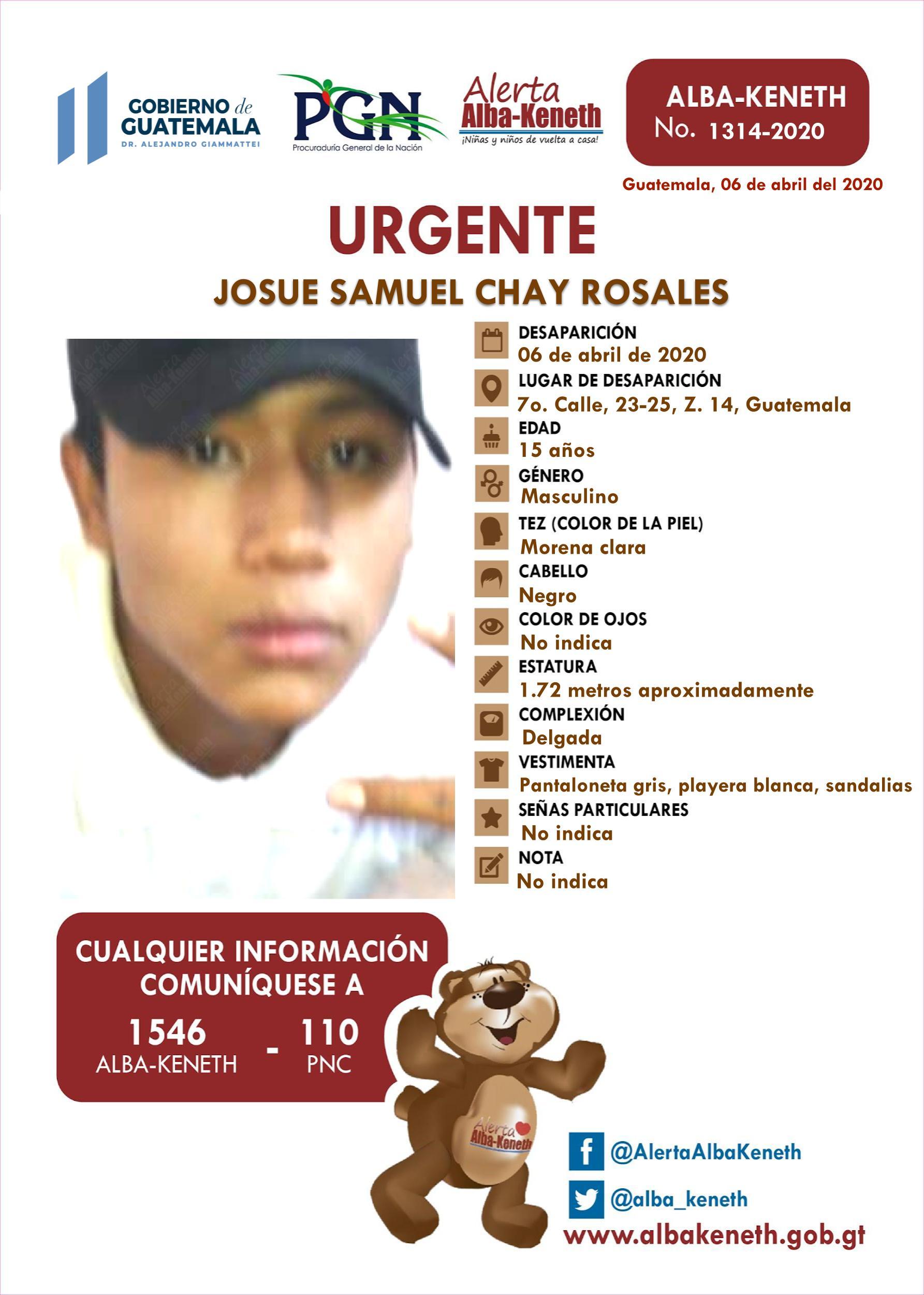 Josue Samuel Chay Rosales