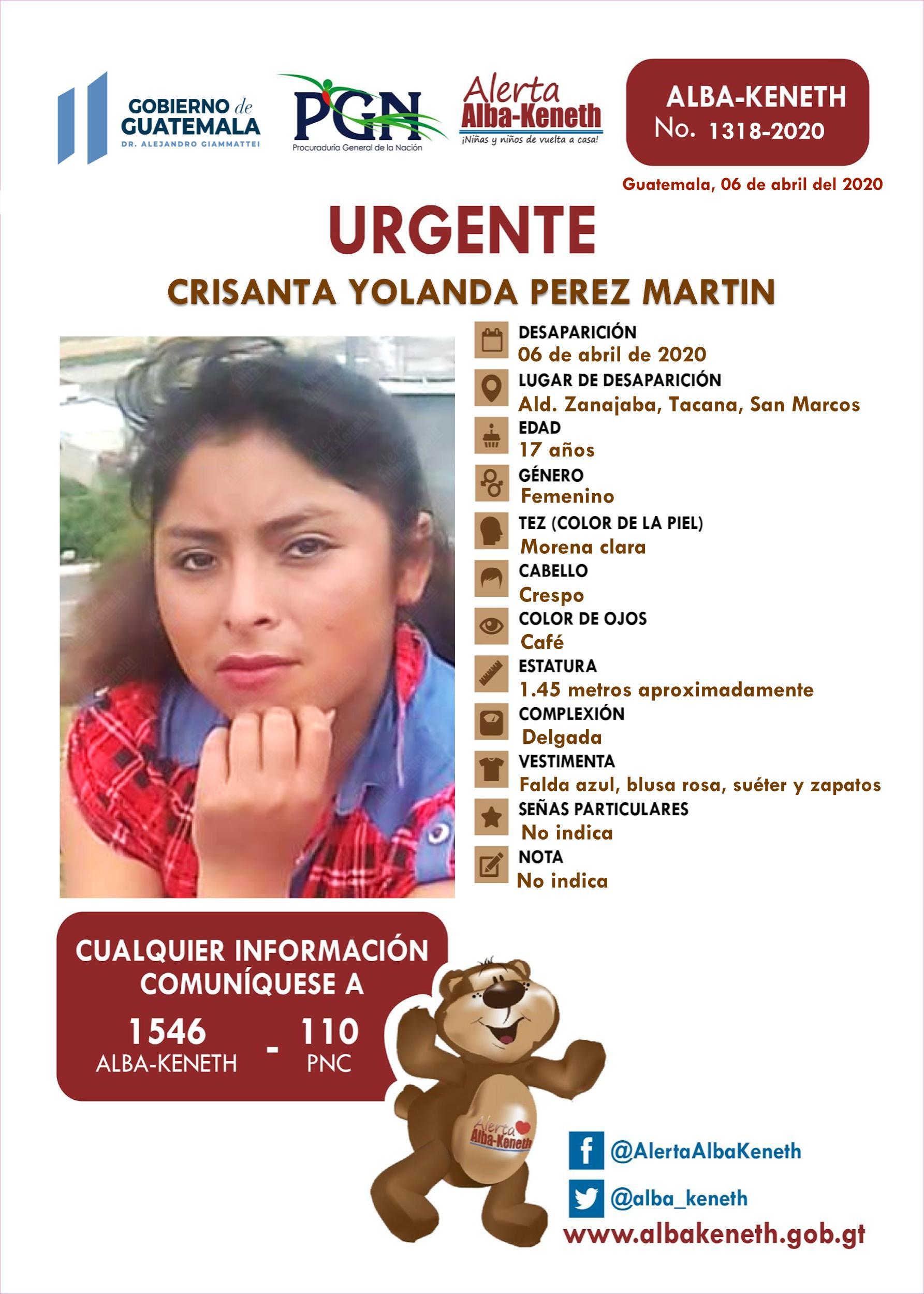 Crisanta Yolanda Perez Martin
