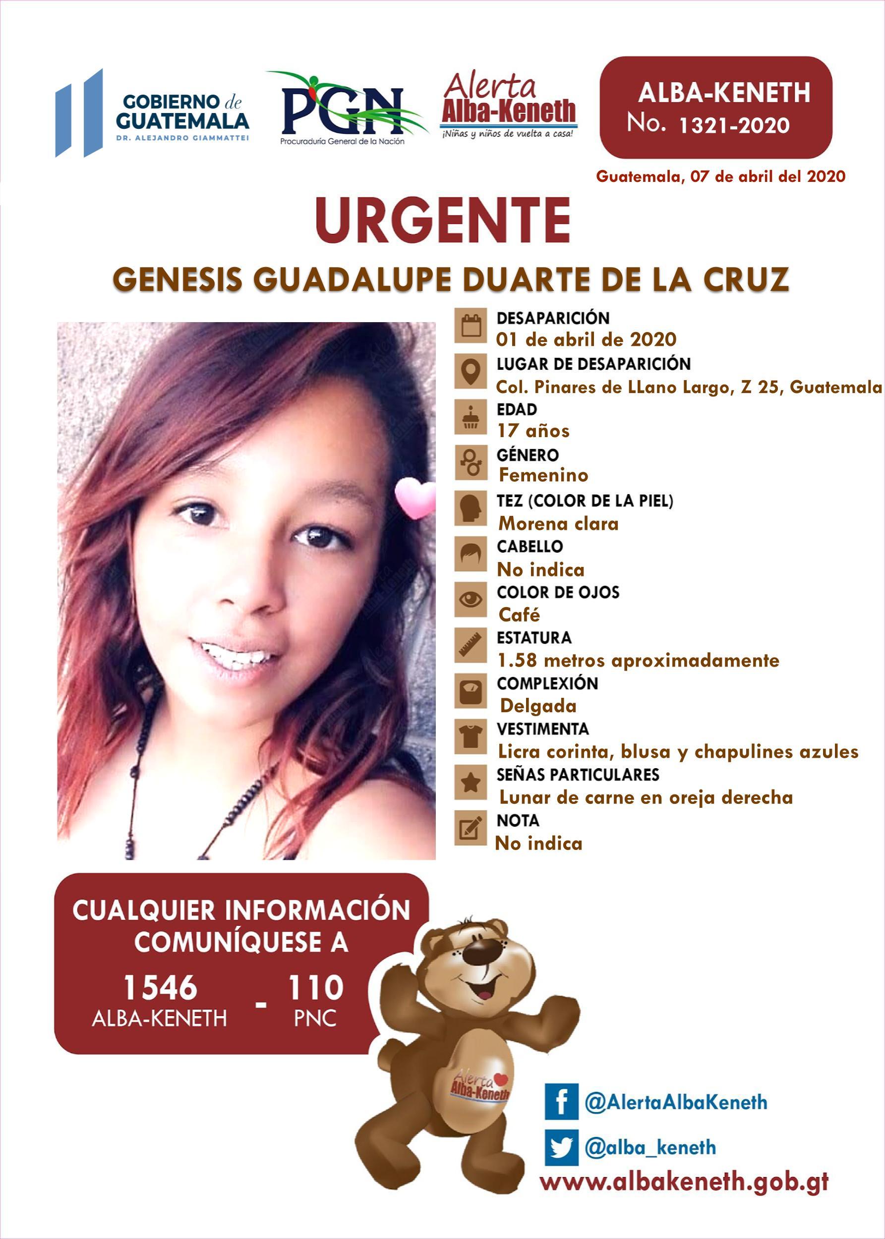 Genesis Guadalupe Duarte de la Cruz