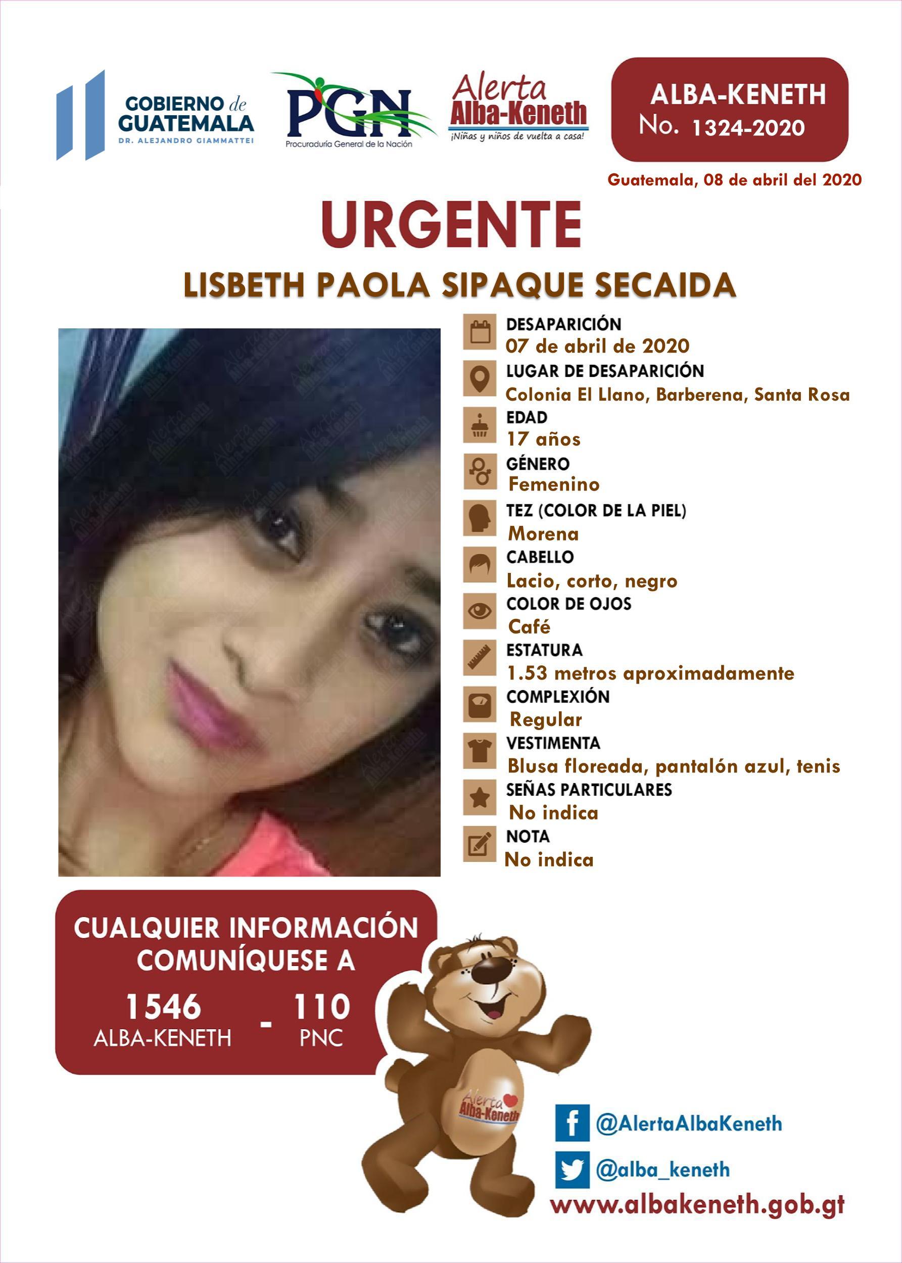 Lisbeth Paola Sipaque Secaida