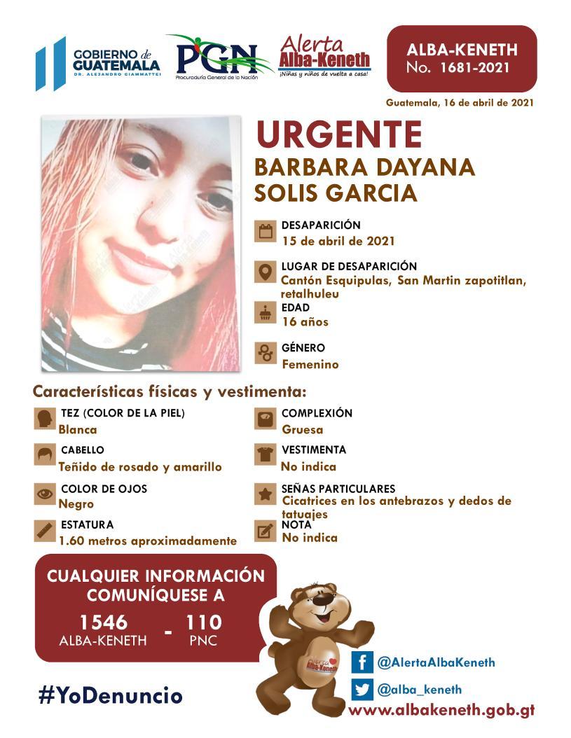 Barbara Dayana Solis Garcia