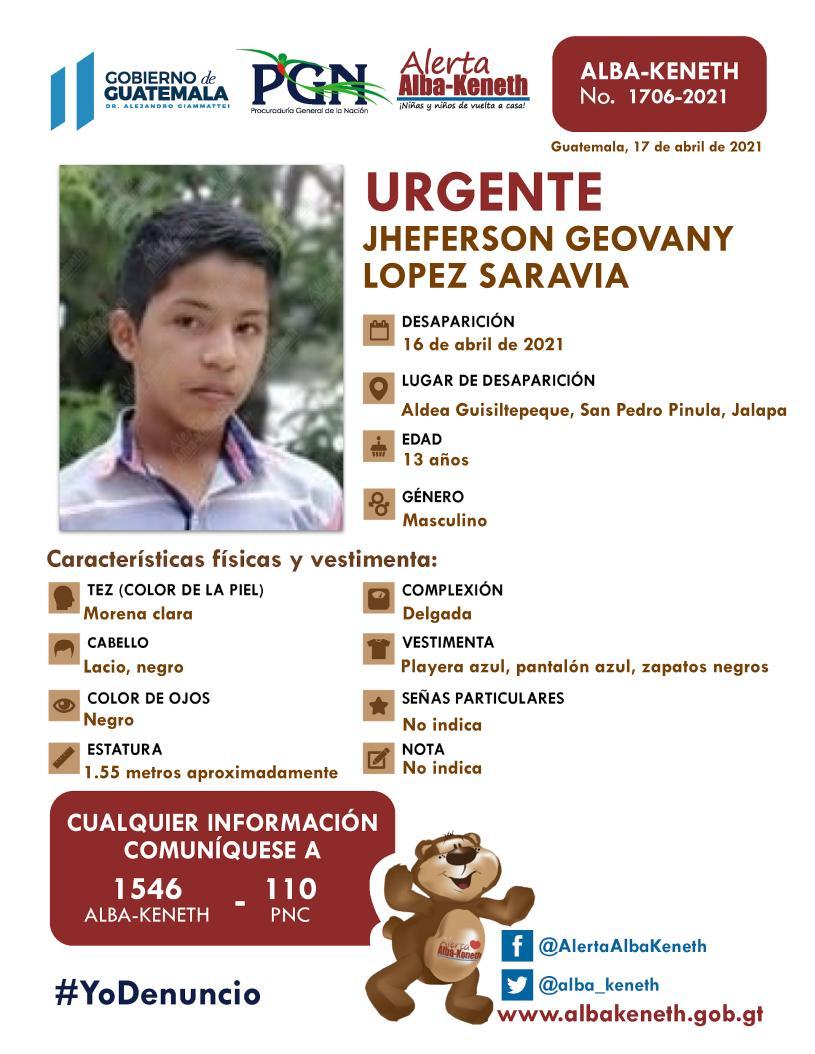 Jheferson Goevany Lopez Saravia