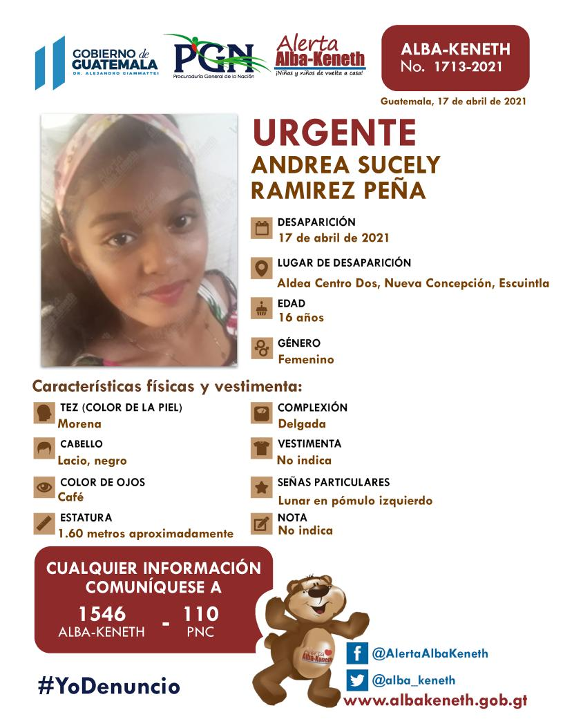 Andrea Sucely Ramirez Peña