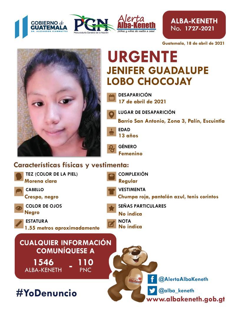 Jenifer Guadalupe Lobo Chocojay