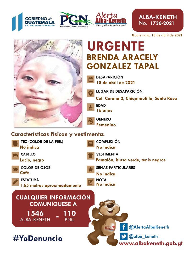 Brenda Aracely Gonzalez Tapal