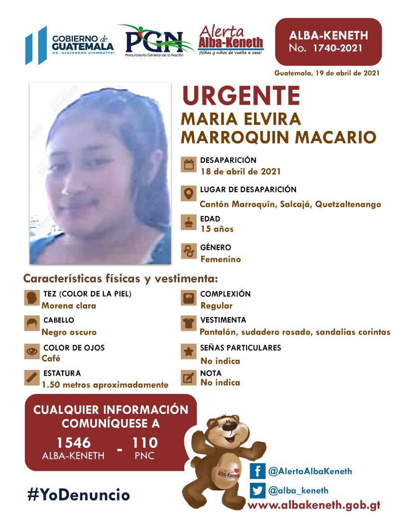 Maria Elvira Marroquin Macario