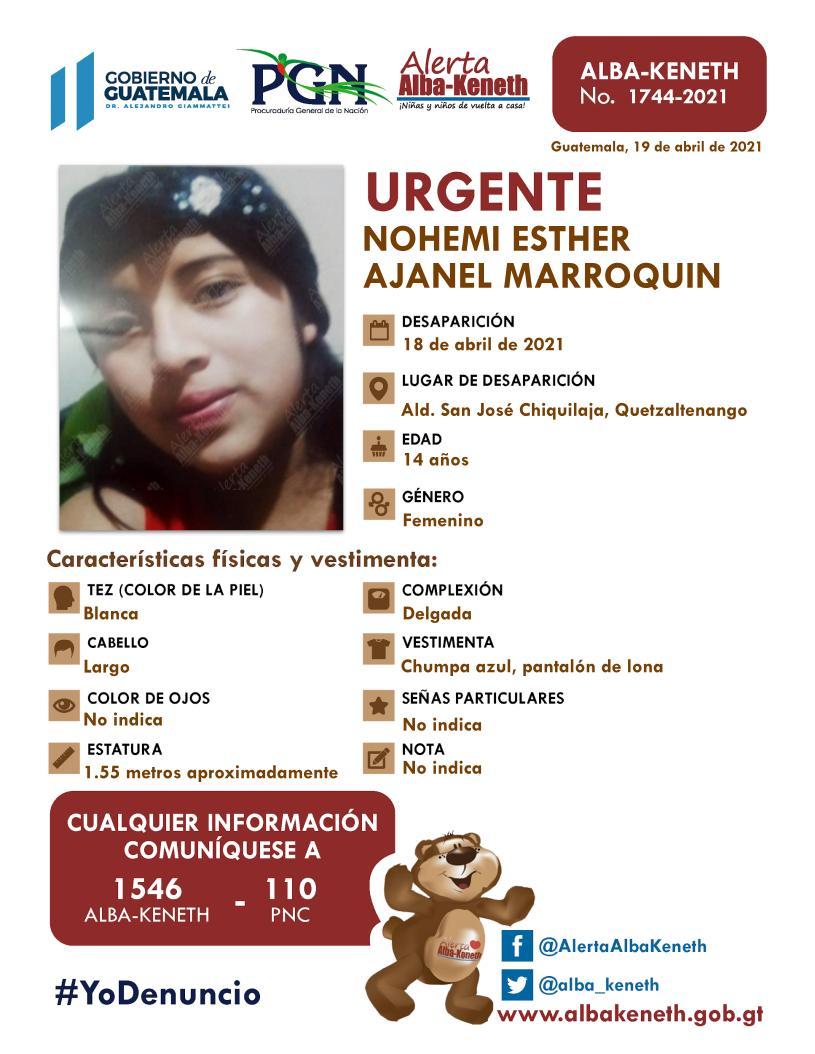 Nohemi Esther Ajanel Marroquin