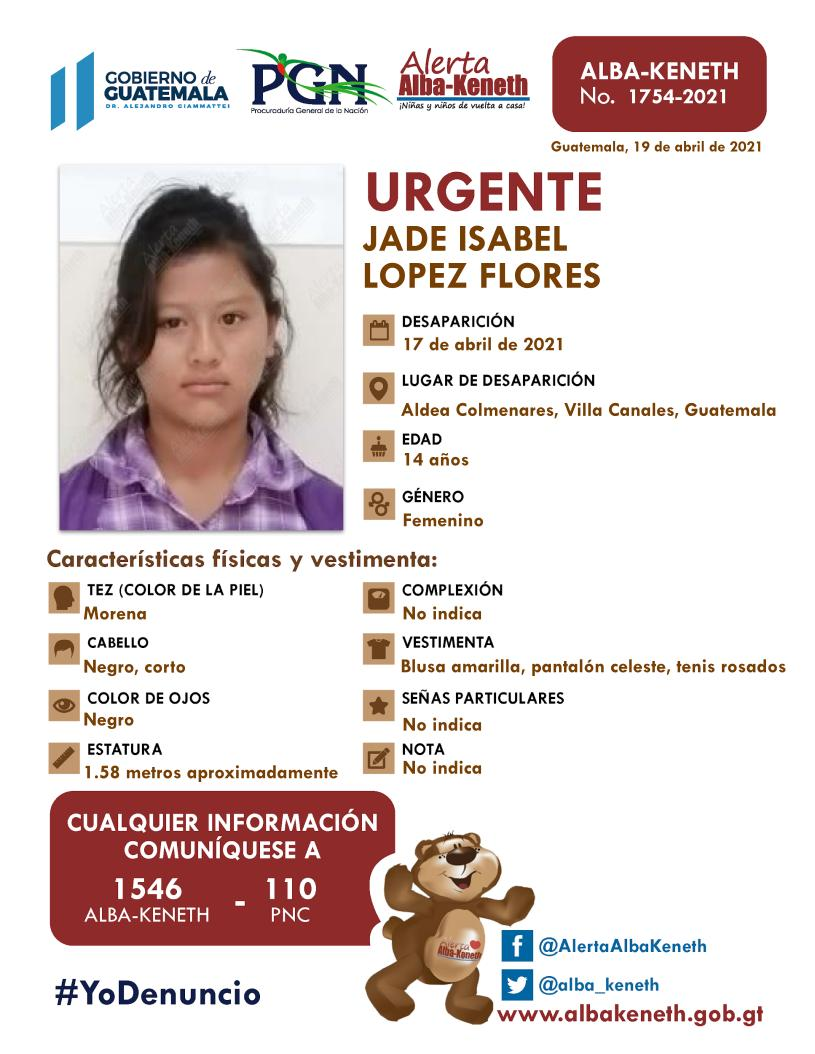 Jade Isabel Lopez Flores