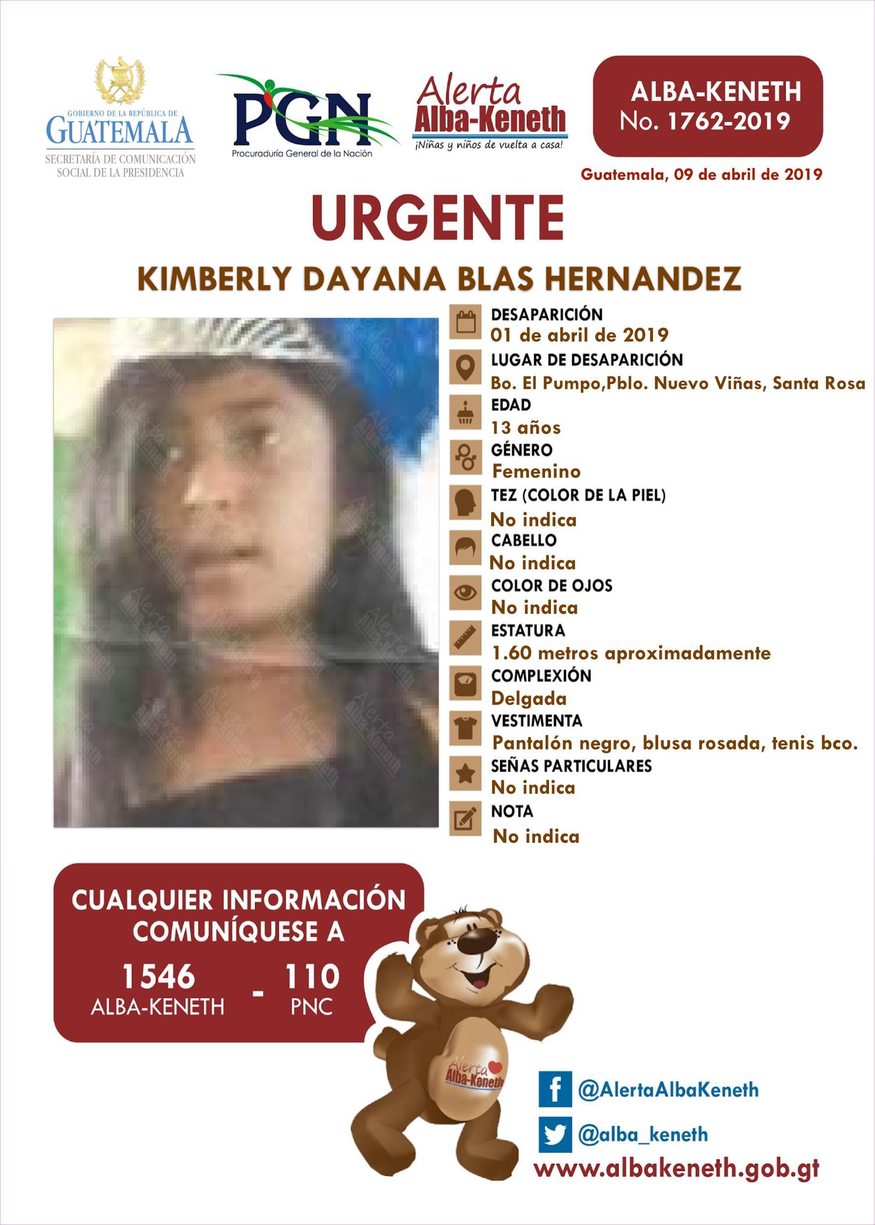 Kimberly Dayana Blas Hernandez