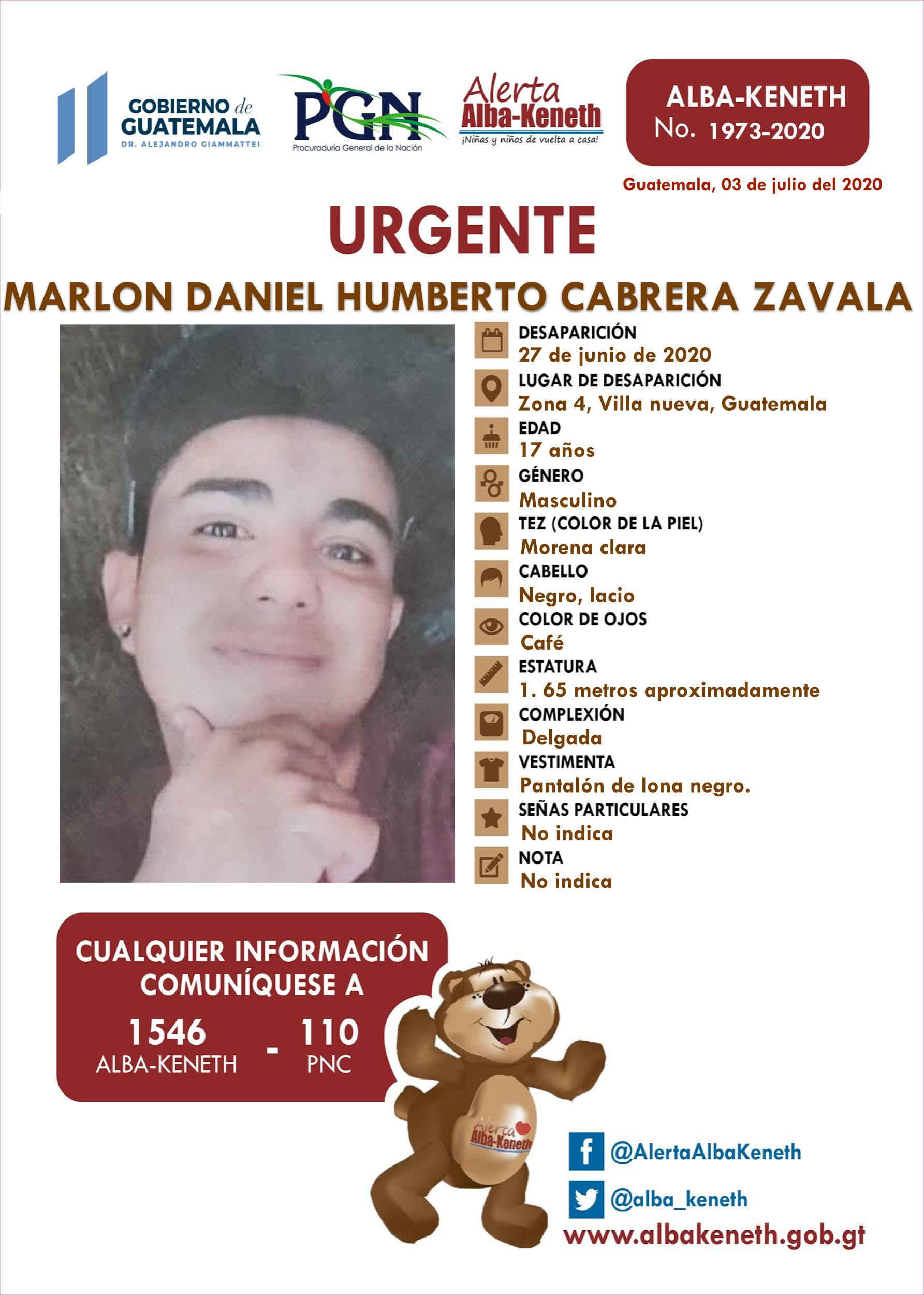 Marlon Daniel Humberto Vabrera Zavala