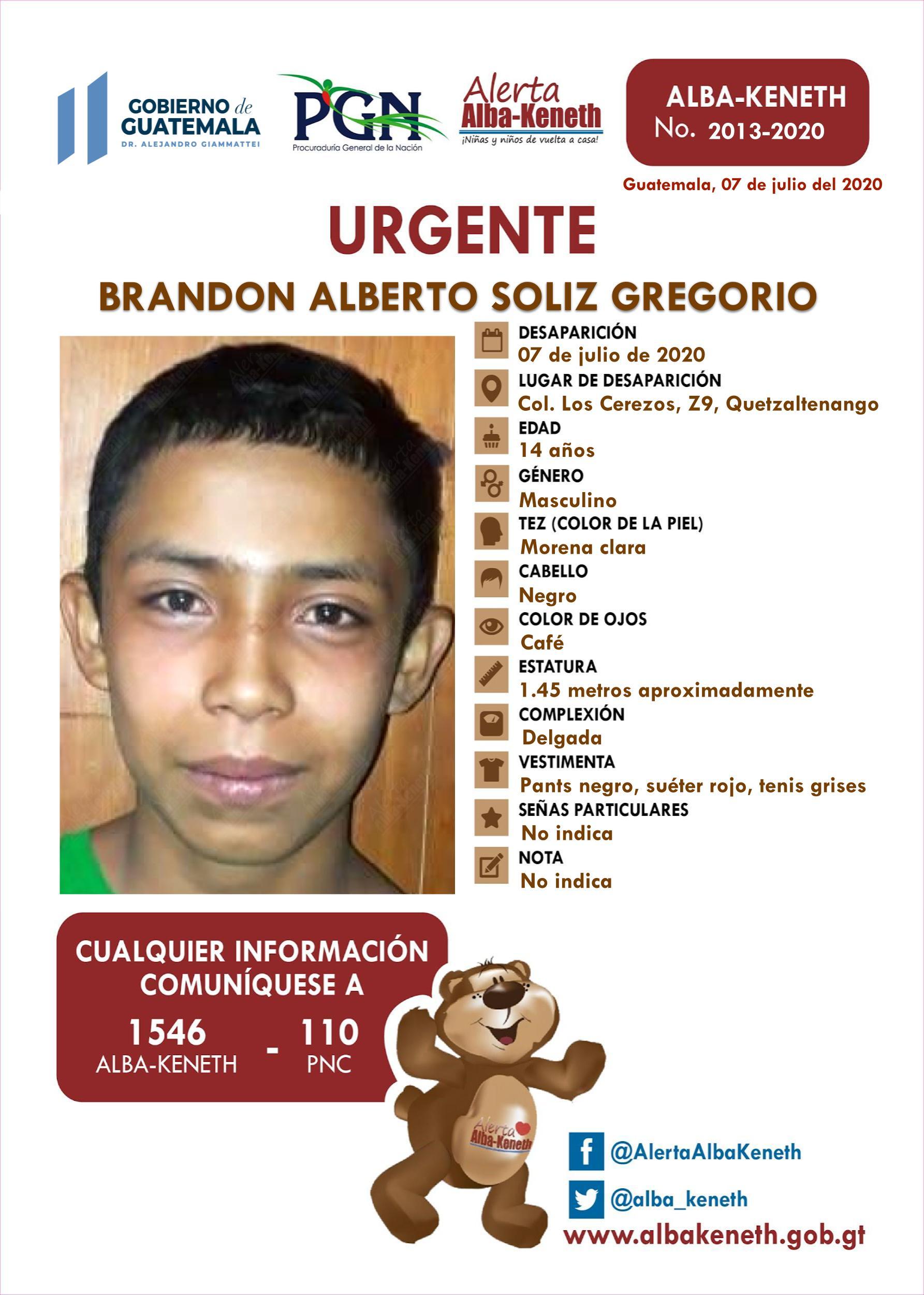 Brandon Alberto Soliz Gregorio