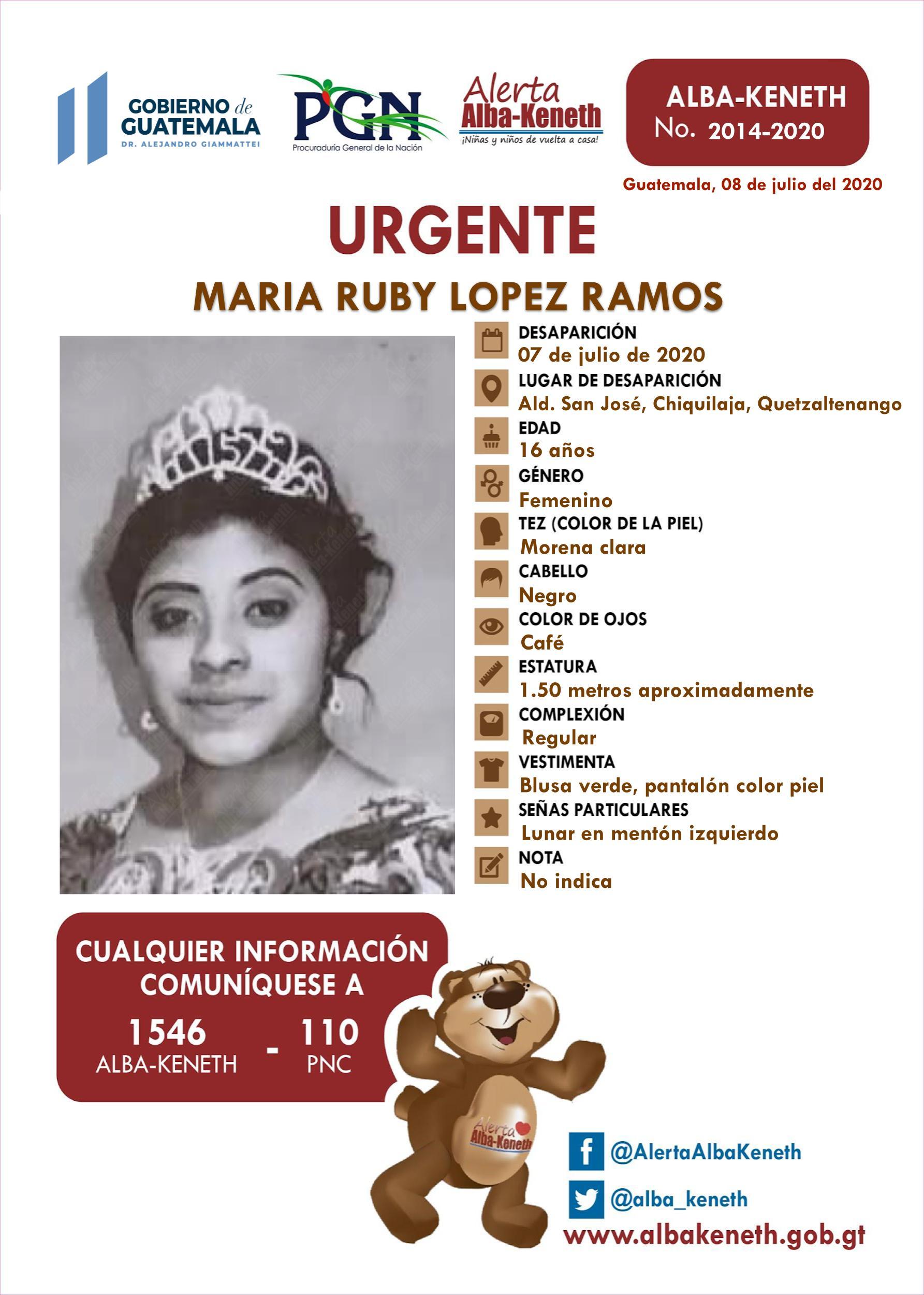 Maria Ruby Lopez Ramos