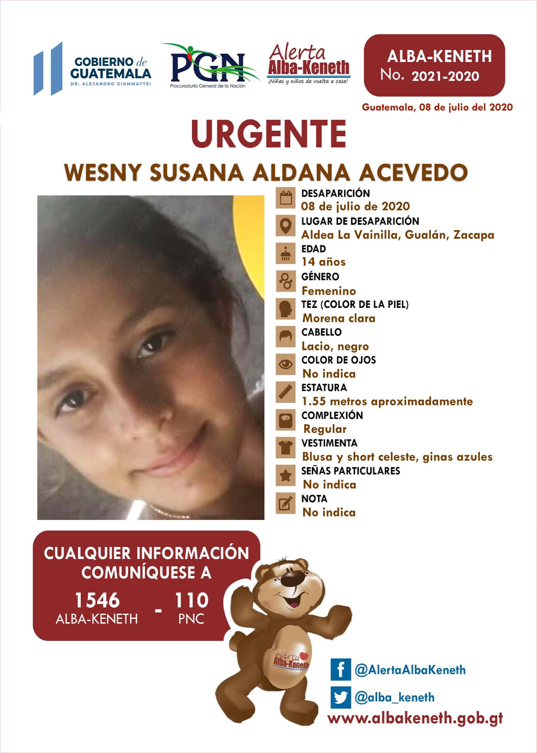 Wesny Susana Aldana Acevedo