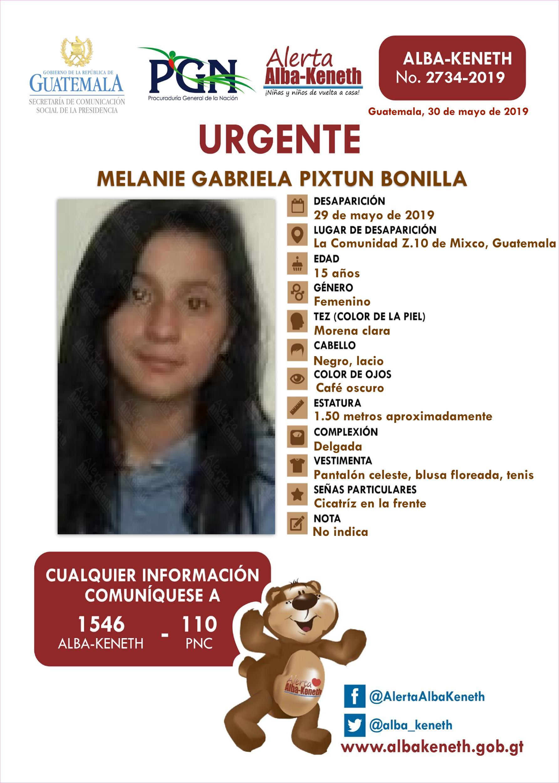 Melanie Gabriela Pixtun Bonilla