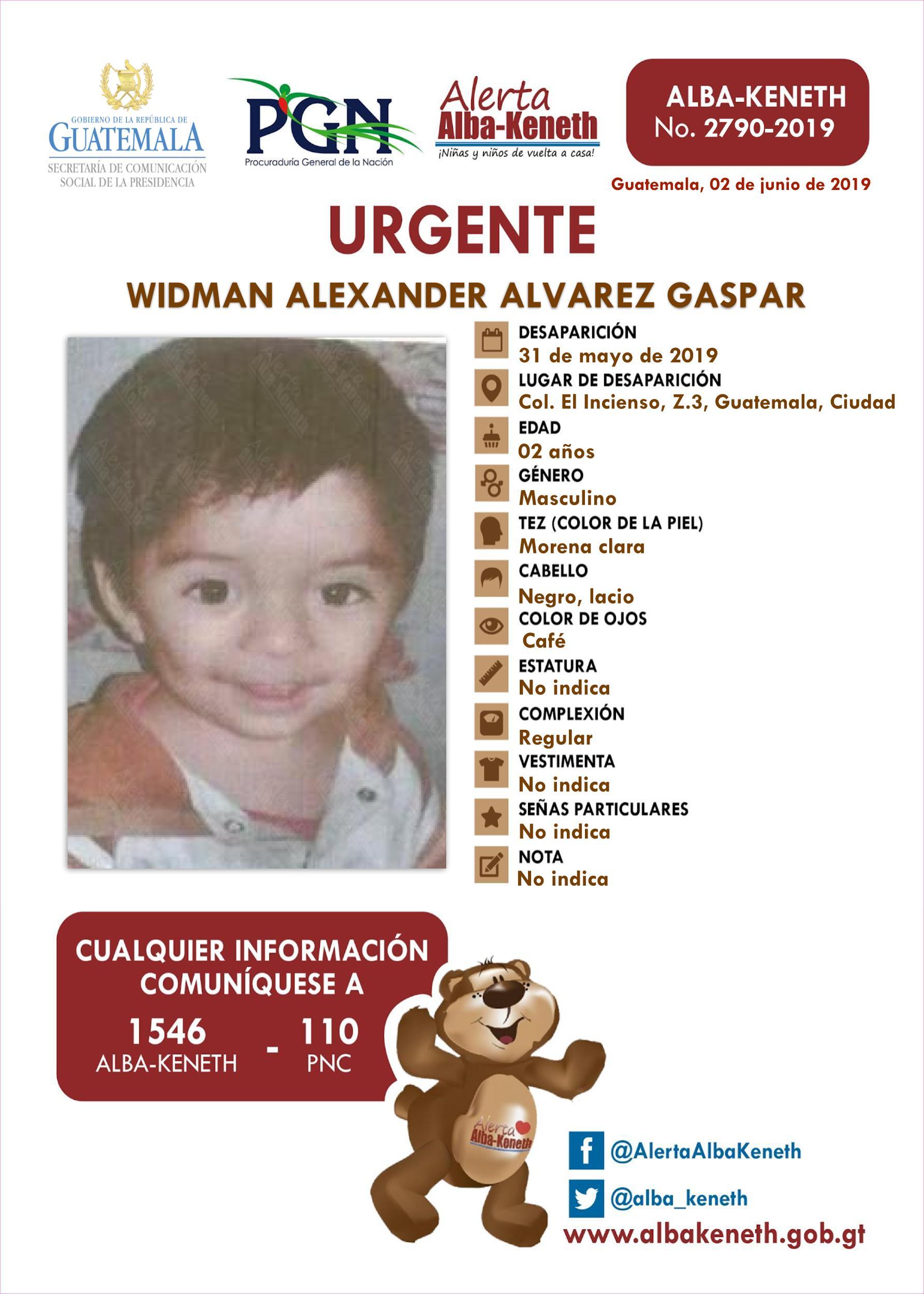 Widman Alexander Alvarez Gaspar