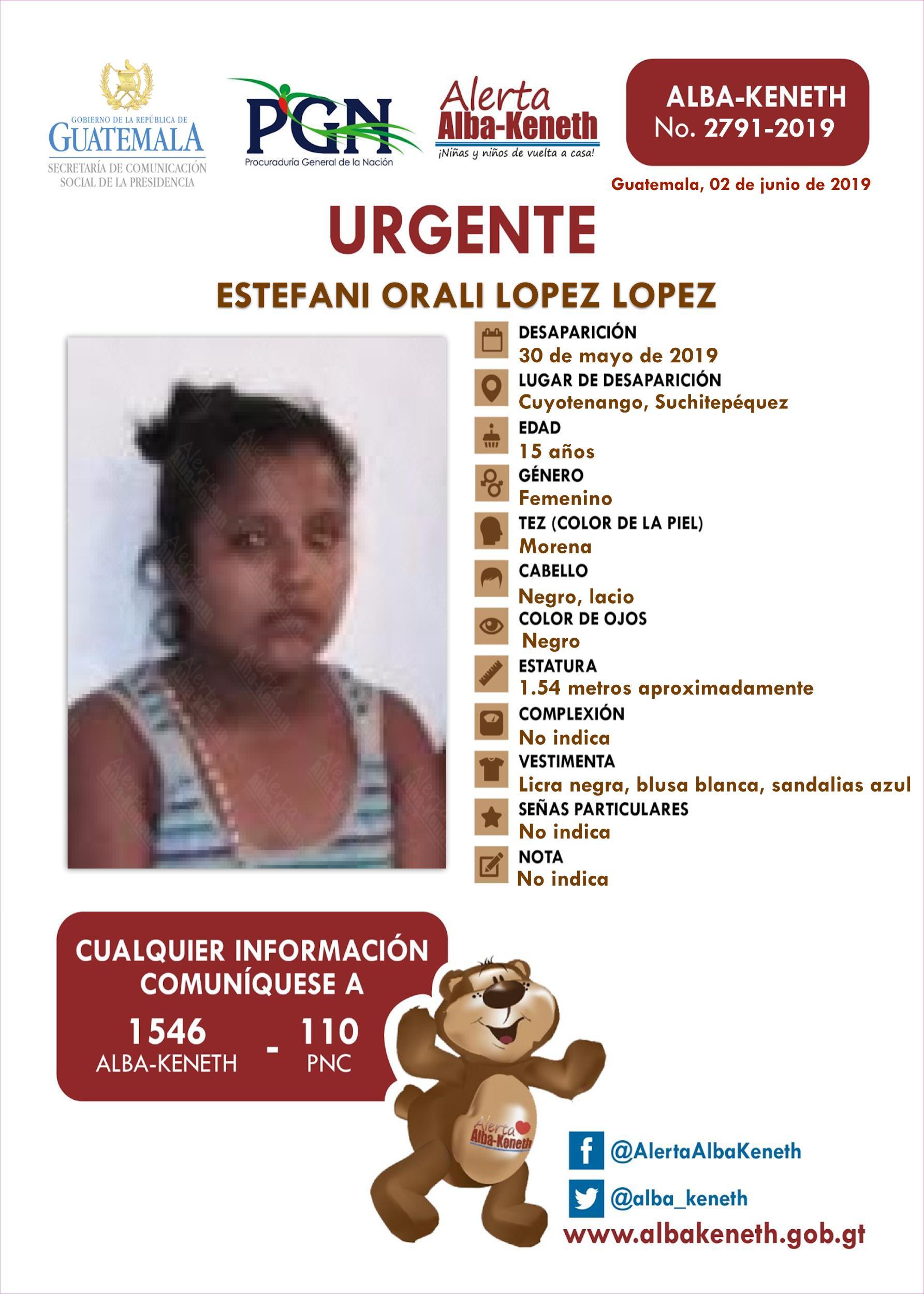 Estefani Orali Lopez Lopez