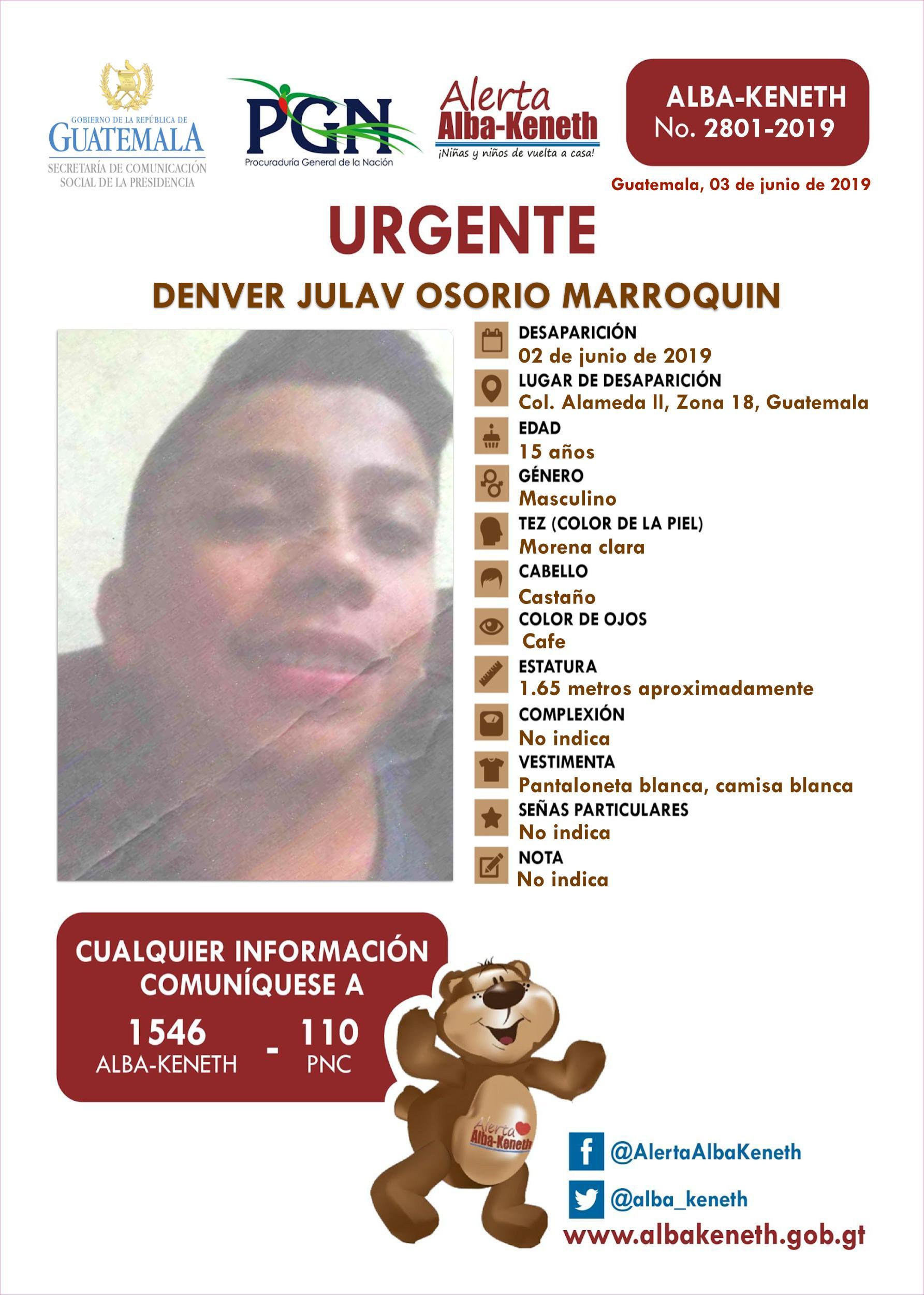 Denver Julav Osorio Marroquin