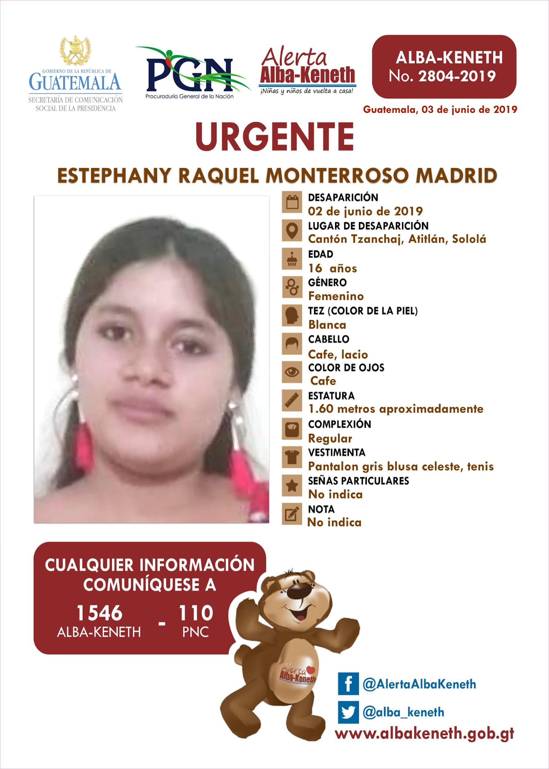 Estephany Raquel Monterroso Madrid