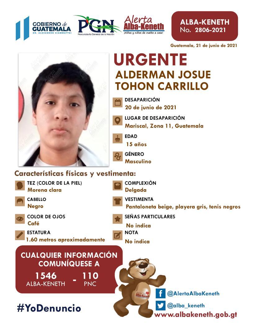 Alderman Josue Tohon Carrillo