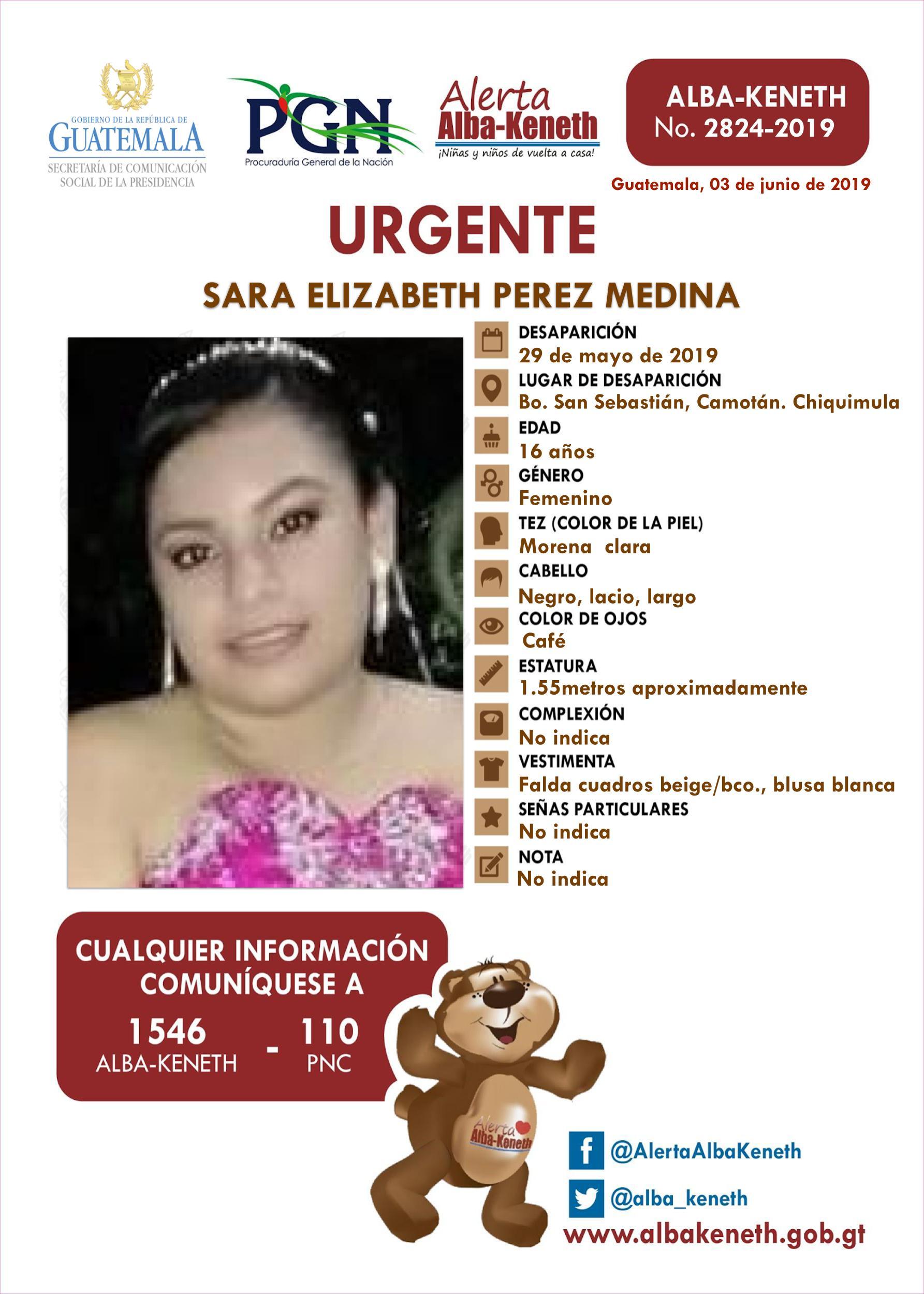 Sara Elizabeth Perez Medina